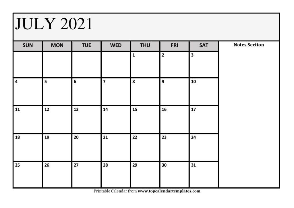 Free July 2021 Calendar Printable (Pdf, Word) Templates July 2021 Calendar Pdf Download