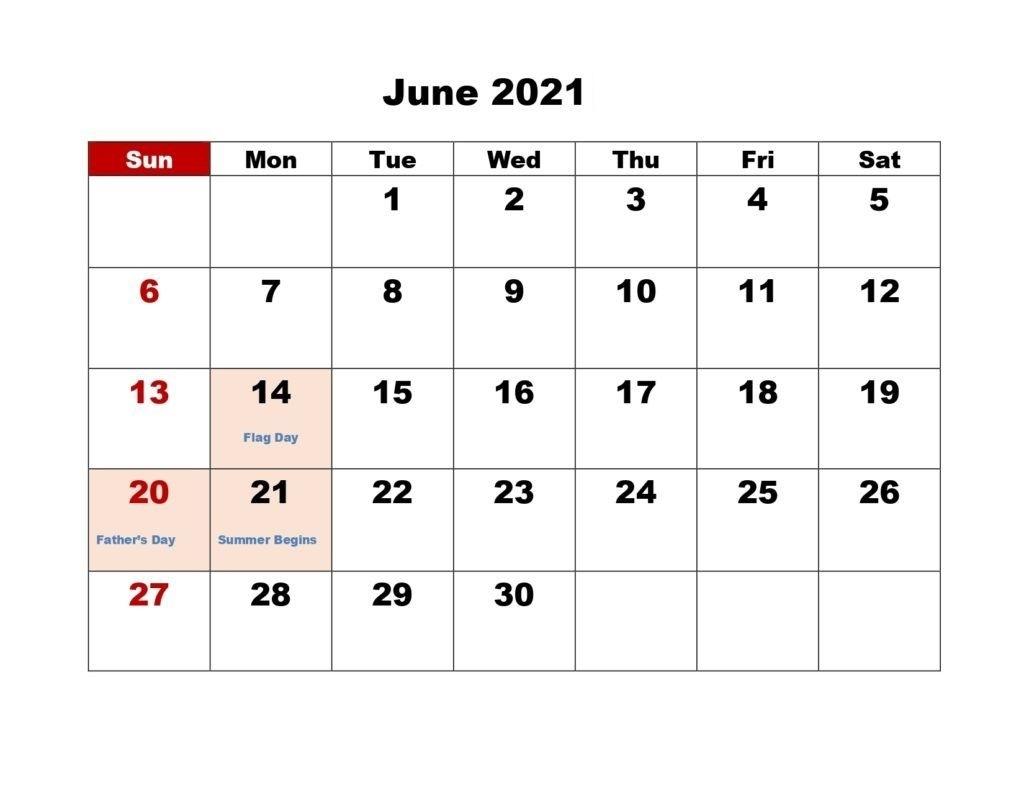 Free June 2021 Calendar With Holidays - Thecalendarpedia June 2021 Calendar Panchang