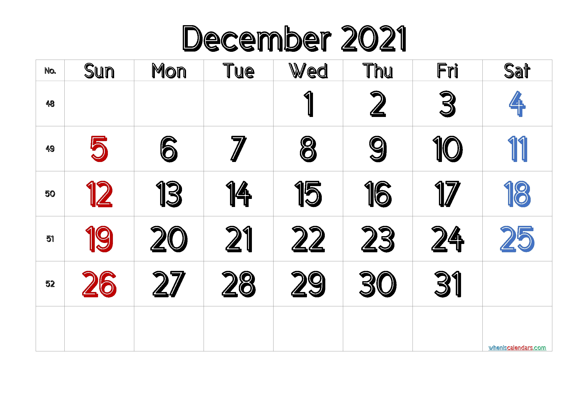 Free Printable Calendar December 2021 2022 And 2023 December 2021 And January 2022 Calendar