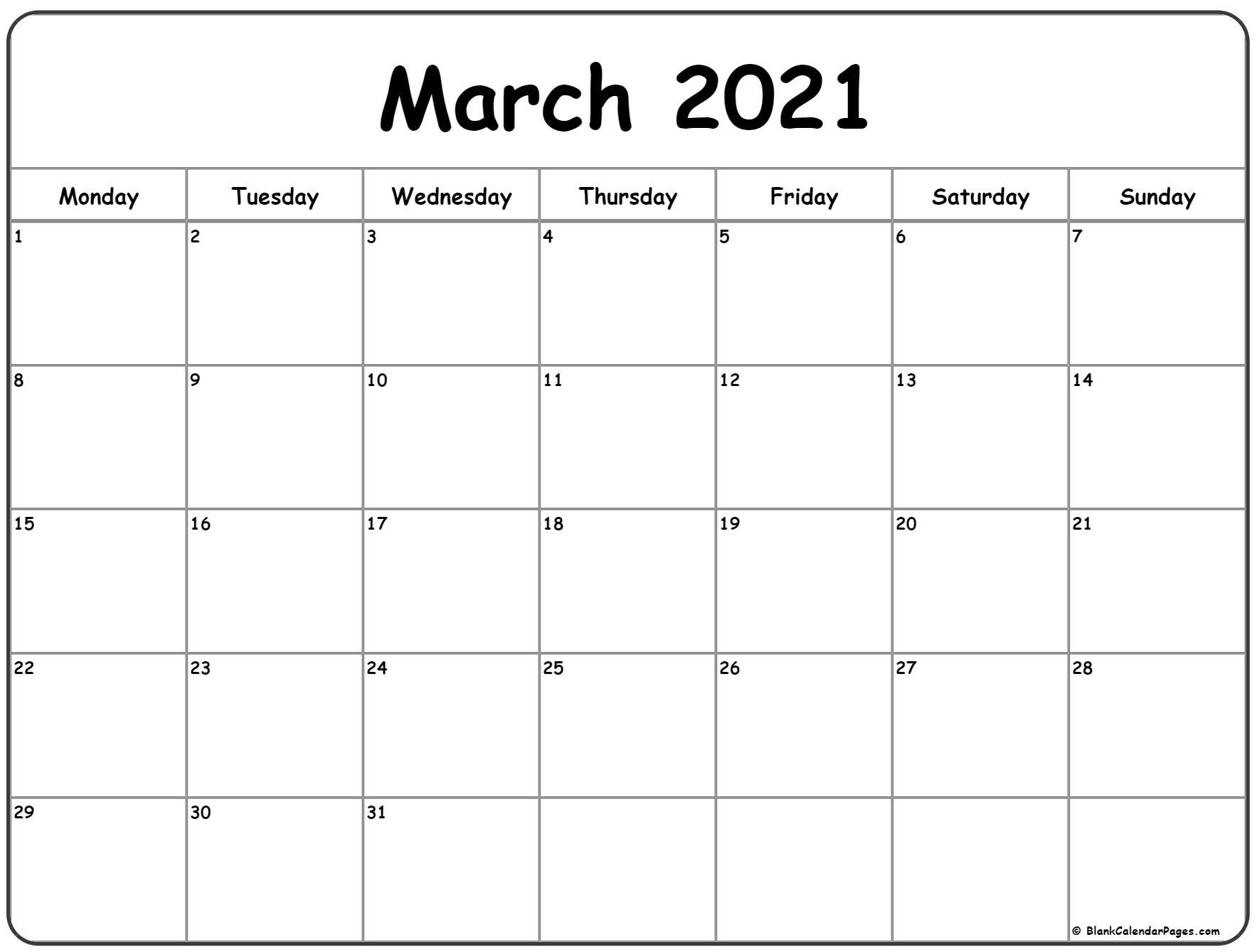 Free Printable Calendar Starting With Monday   Calendar Printables Free Templates September 2021 Calendar Starting Monday