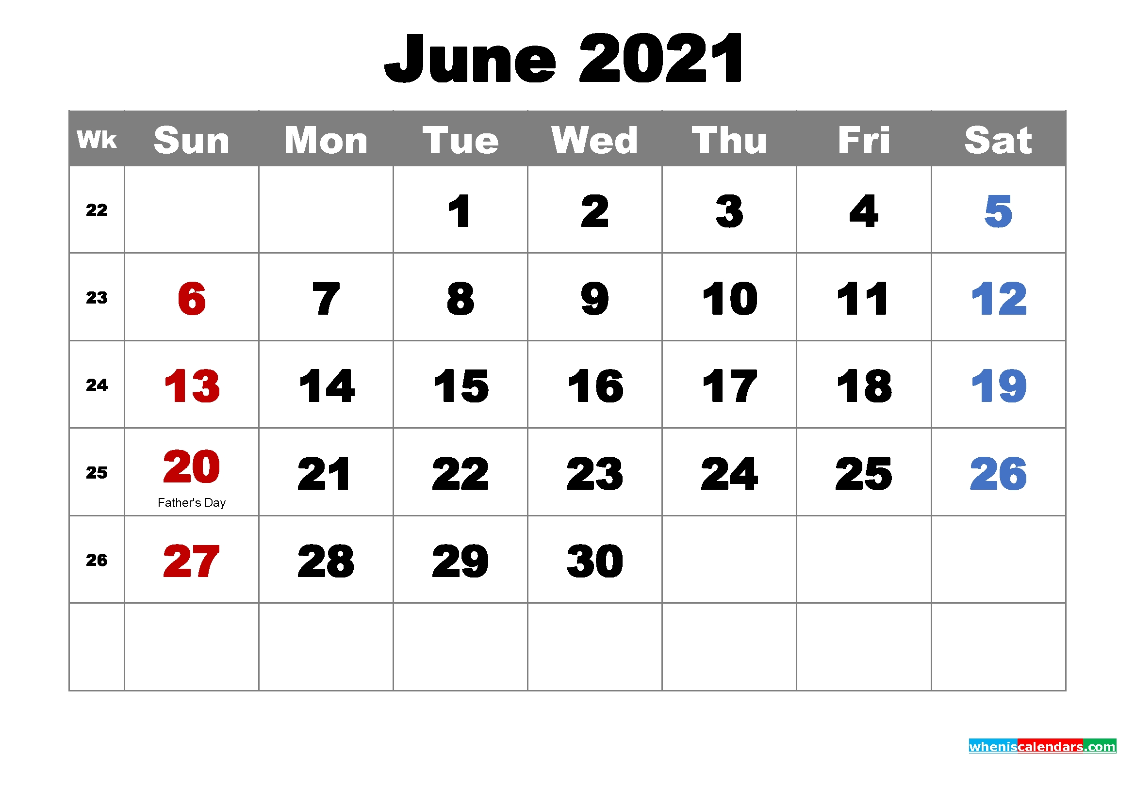 Free Printable June 2021 Calendar With Holidays As Word, Pdf - Free Printable 2020 Monthly June 2021 Calendar Panchang