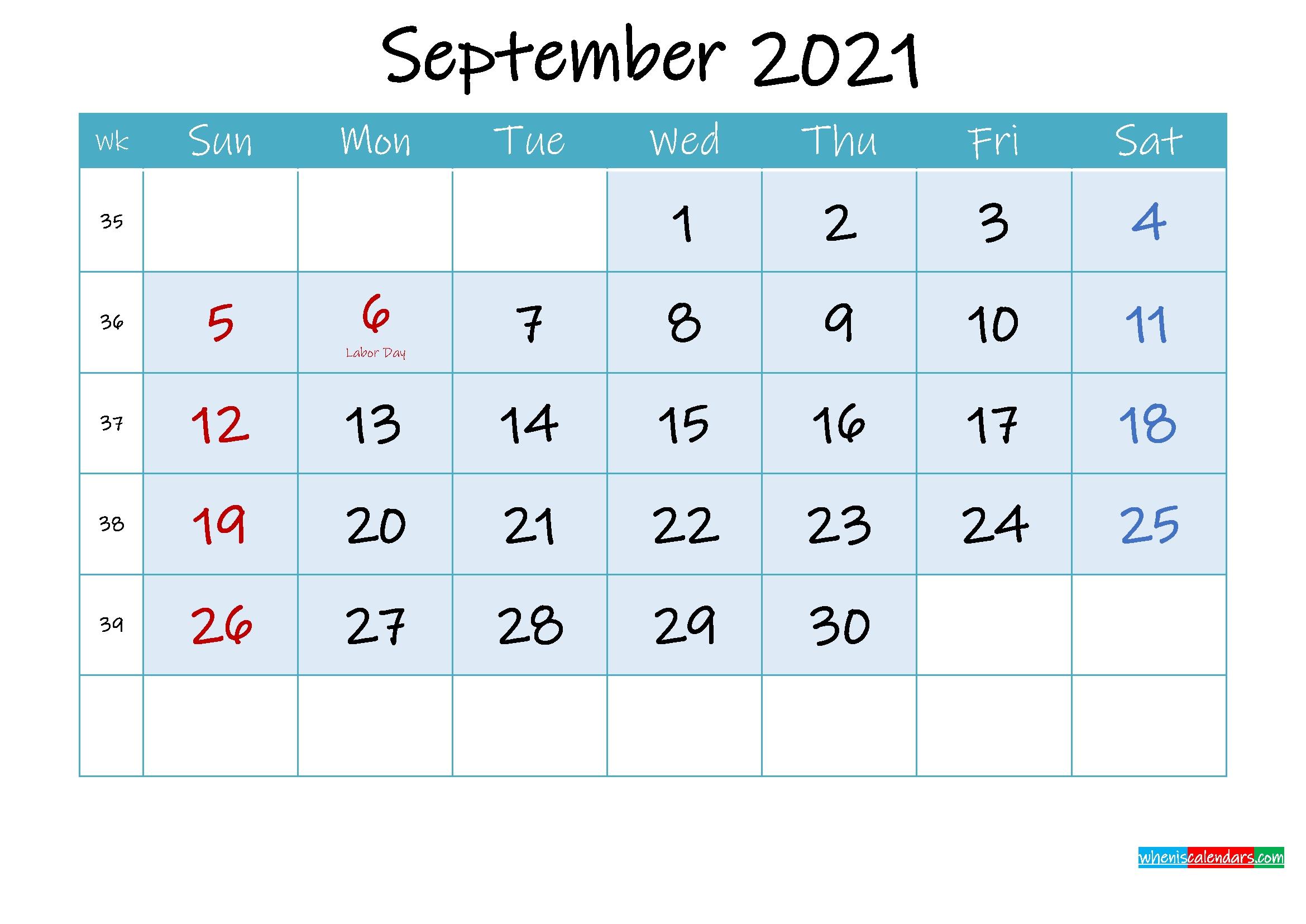 Free Printable September 2021 Calendar With Holidays September 2020 To March 2021 Calendar