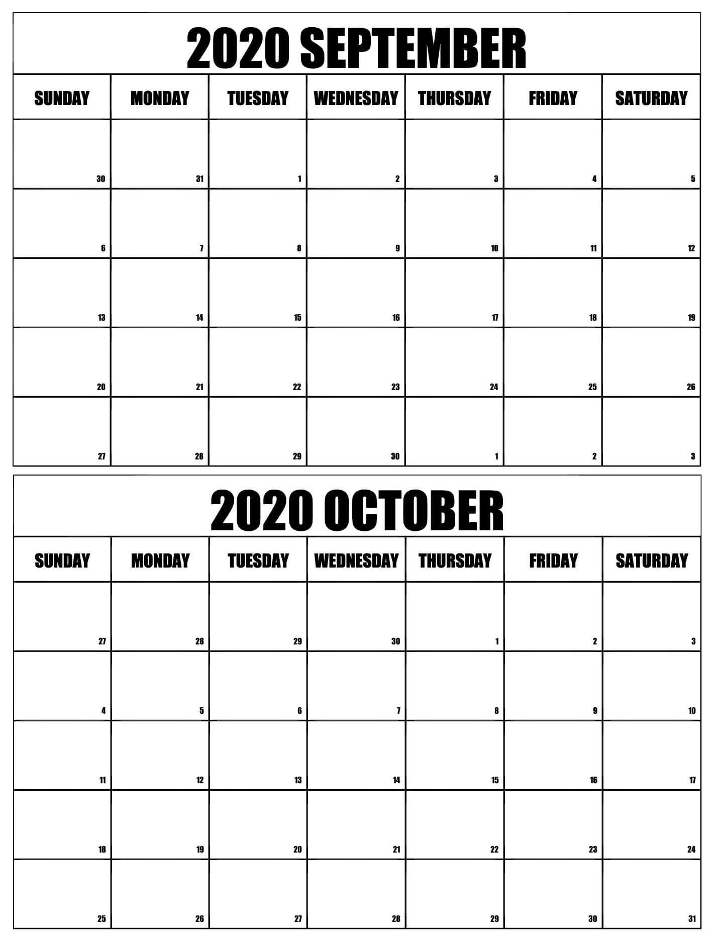 Free September 2020 To February 2021 Calendar Word With Notes - One Platform For Digital October 2020 - September 2021 Calendar