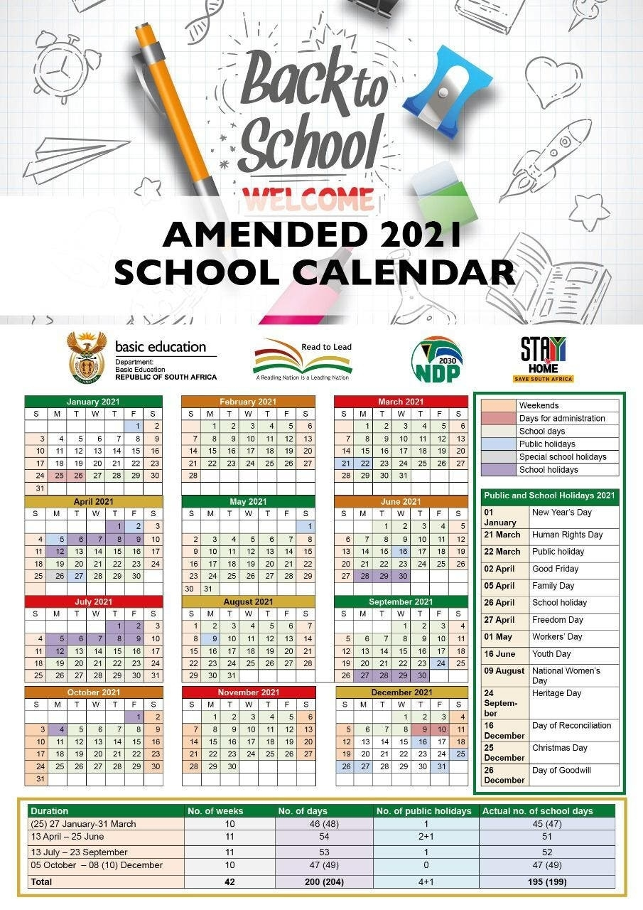 Here'S The New School Calendar For 2021 - Schools To Reopen On 25 January | All4Women 25 June 2021 Islamic Calendar