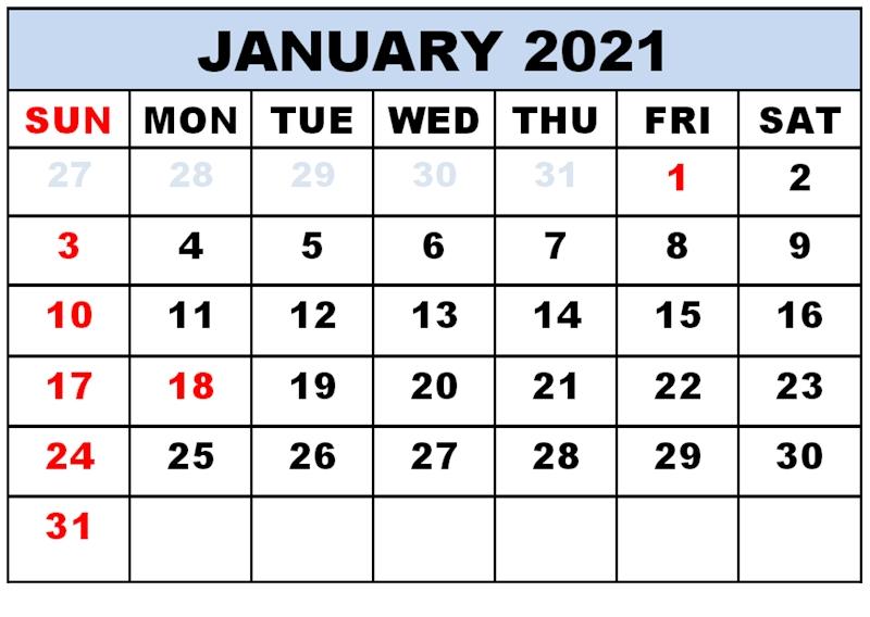 January 2021 Calendar Pdf   Betacalender4U Printable January Through December 2021 Calendar