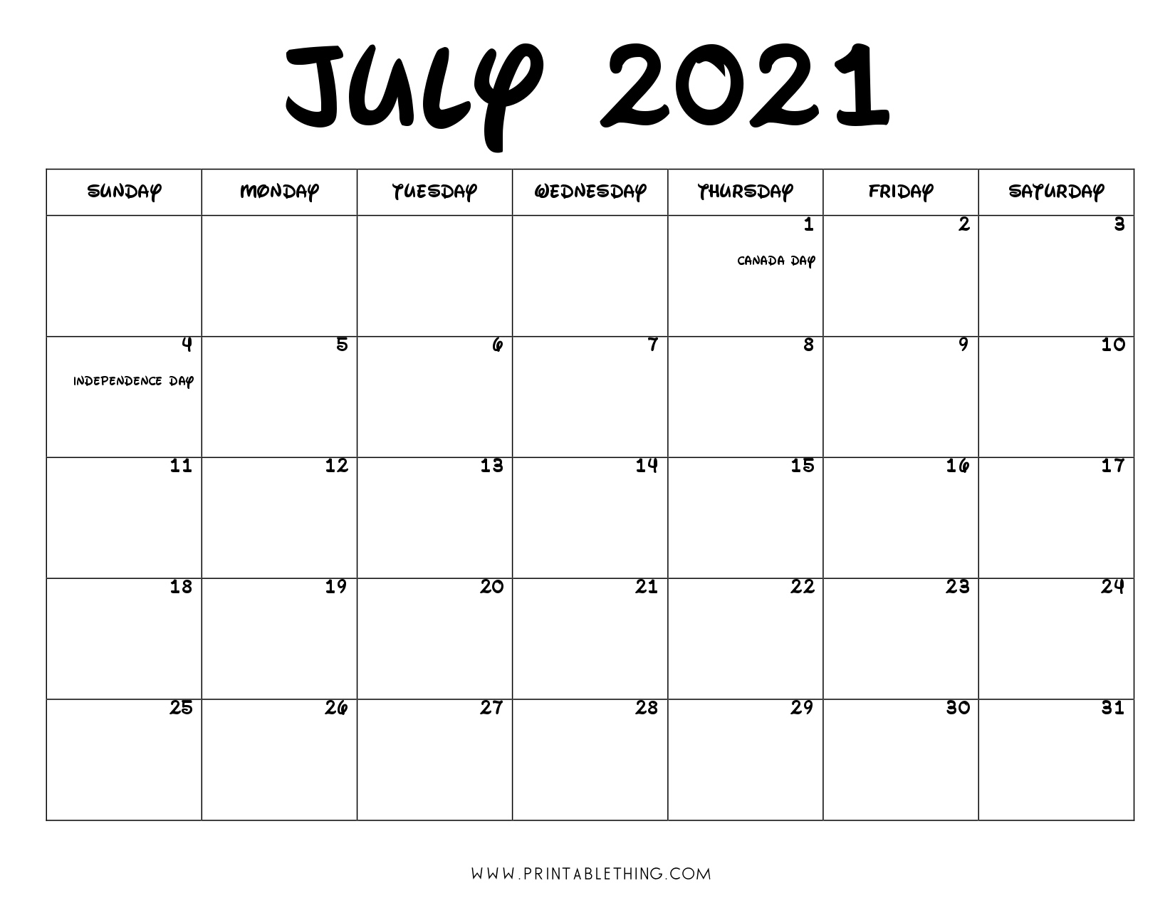 July 2021 Calendar Pdf, July 2021 Calendar Image, Print Pdf & Image July 2021 Tithi Calendar