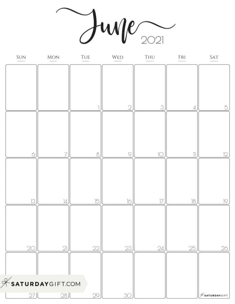 July 2021 To June 2021 Calendar Printable | Free 2021 Printable Calendars Blank Calendar July 2020 To June 2021