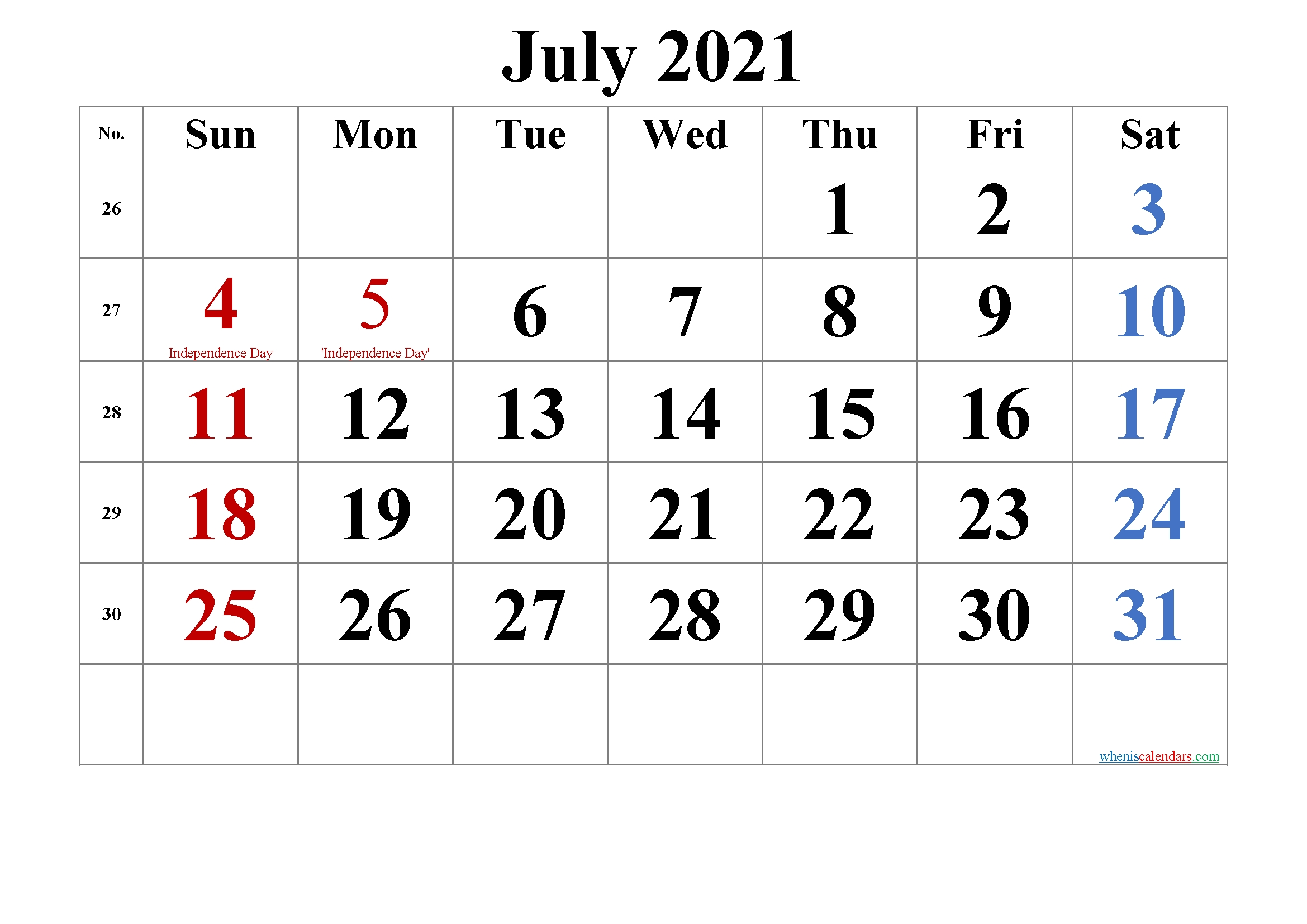July 4 2021 Calendar | Printable March July 2021 Calendar Vertical
