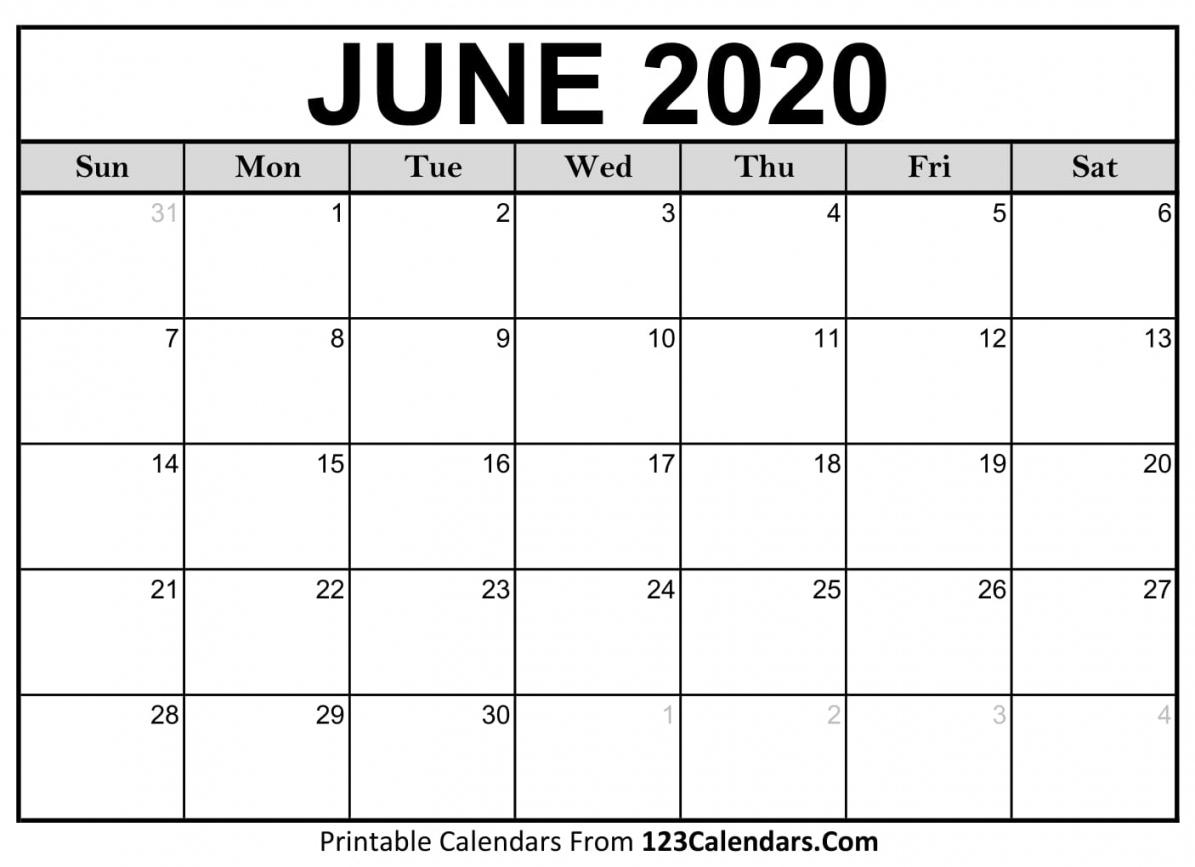 June 2020 Calendar Printable | Free Letter Templates June 2020 To June 2021 Calendar Printable