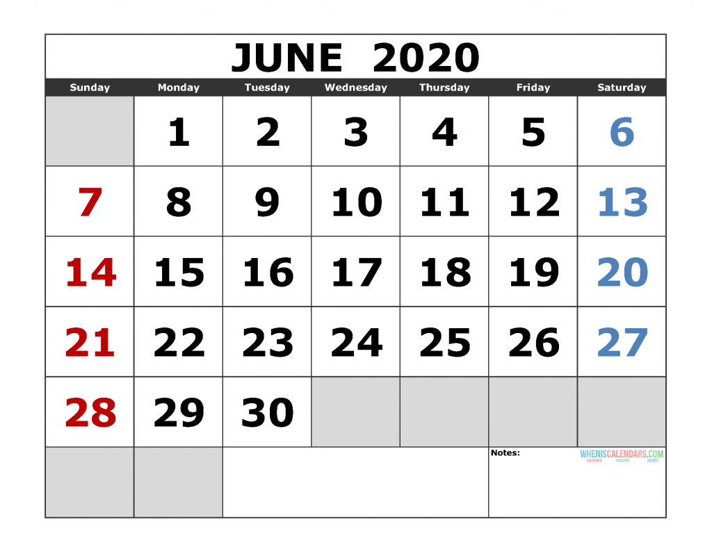 June 2020 Printable Calendar Template Excel, Pdf, Image [Us. Edition] June 2020 To June 2021 Calendar Printable