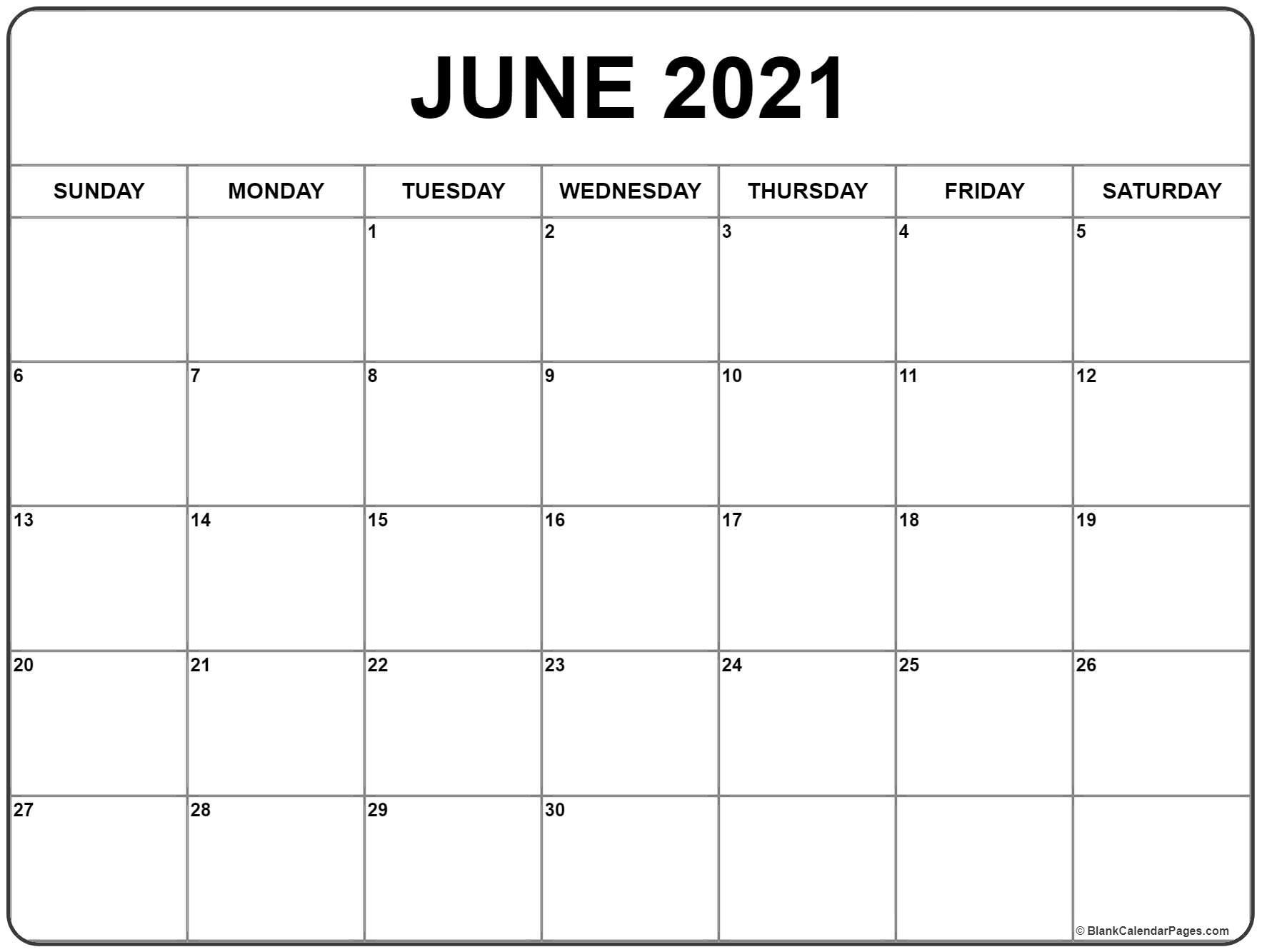 June 2021 Calendar | 51+ Calendar Templates Of 2021 Calendars June 2021 Calendar Kuda
