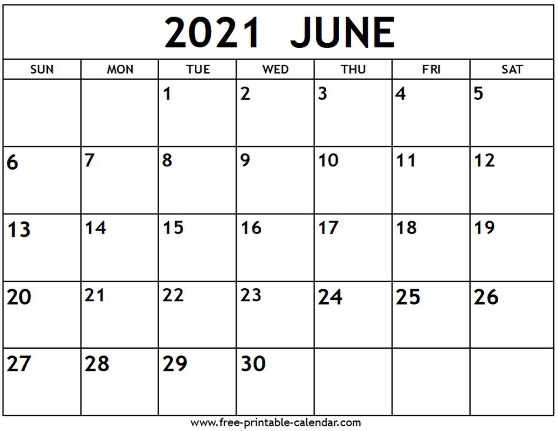 June 2021 Calendar - Free-Printable-Calendar June 2021 Calendar Kuda