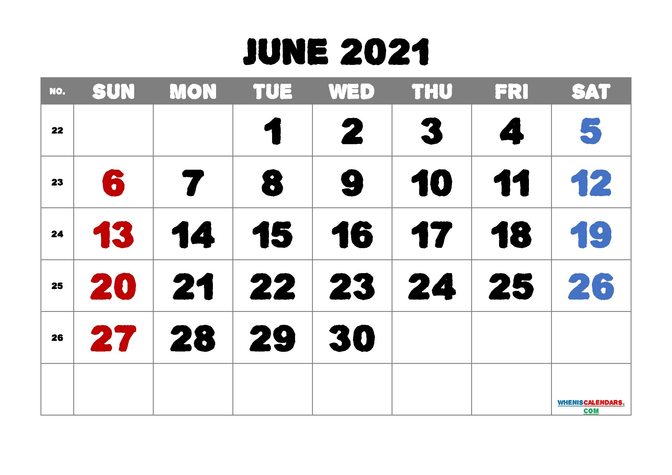 June 2021 Calendar Printable Free | Template M21Alphaecho1 June 2020 To June 2021 Calendar Printable