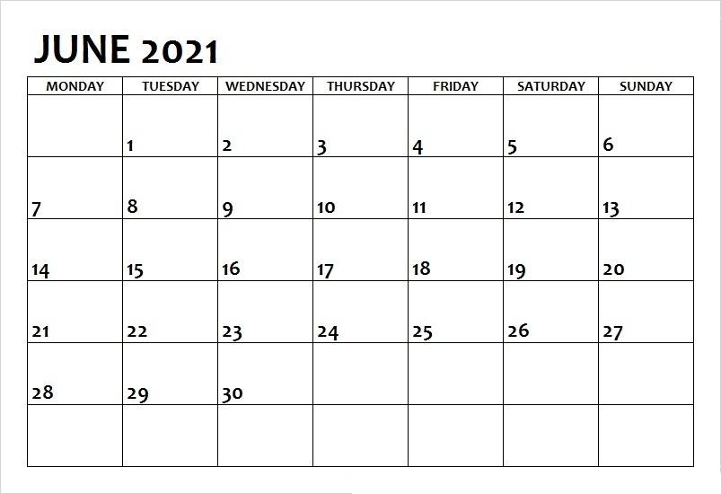June 2021 Printable Calendar All Formates - Printable Calendar June 2021 Calendar Kuda