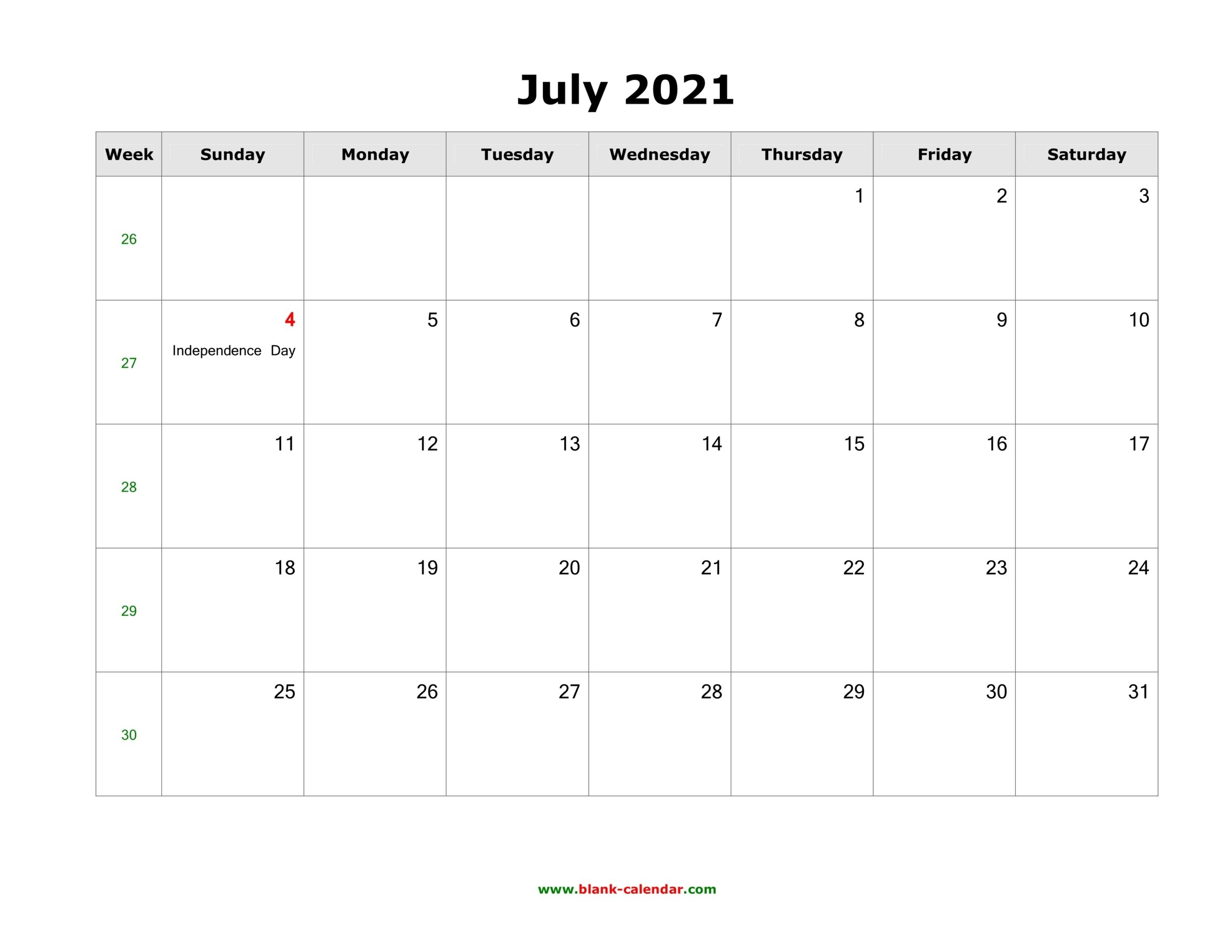June 2021 Printable Calendar In Pdf, Word, Excel - Calendar End - 2020 Calendar Printable June 2021 Calendar With Holidays Usa