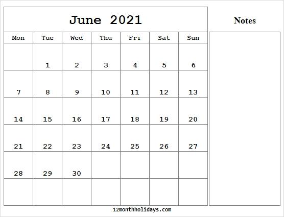 June Calendar 2021 Editable - Blank 2021 Calendar Pdf June 2021 Calendar In Excel