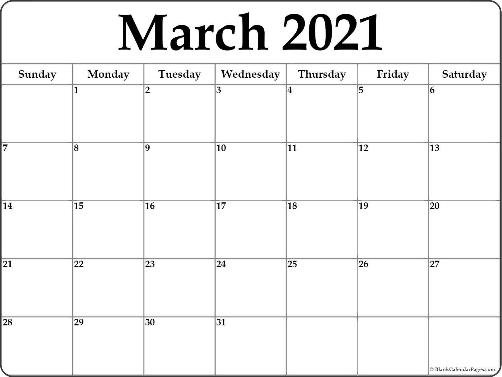 March 2021 Blank Calendar Collection. July 2021 Vertical Calendar