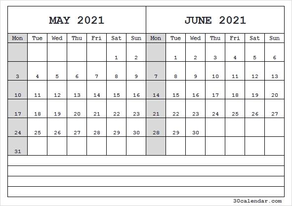 May June Calendar 2021 Template - May 2021 Calendar Editable Editable June 2021 Calendar