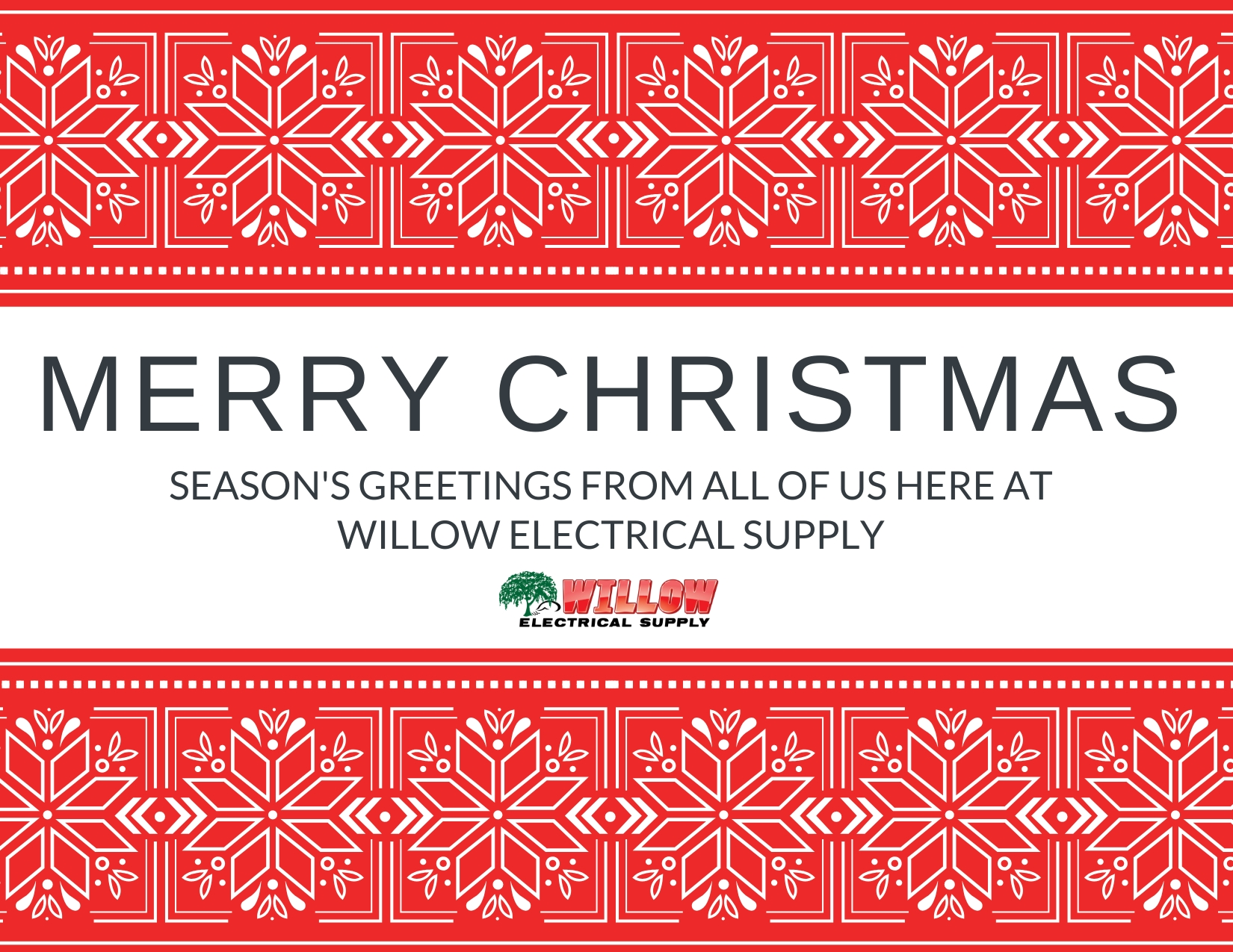 Merry Christmas 2020 From Willow Electrical Supply (We'Re Closed) Show Me December 2021 Calendar