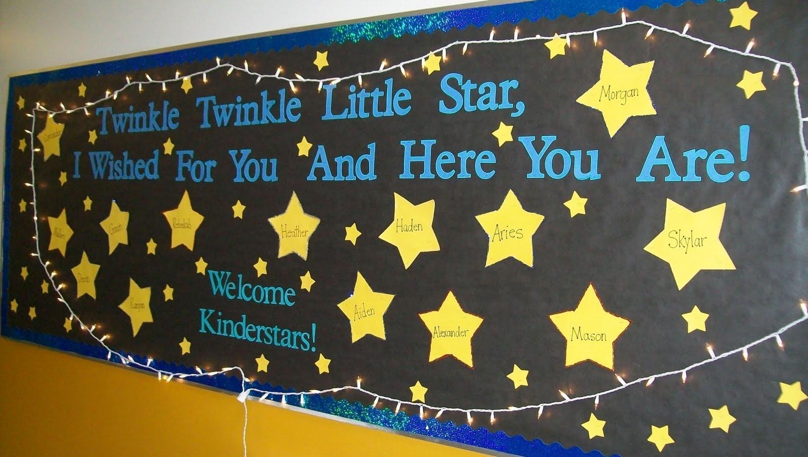 Miss Wells Kinder Stars: Welcome To Kindergarten Bulletin Board What Date Do Schools Go Back In September 2021