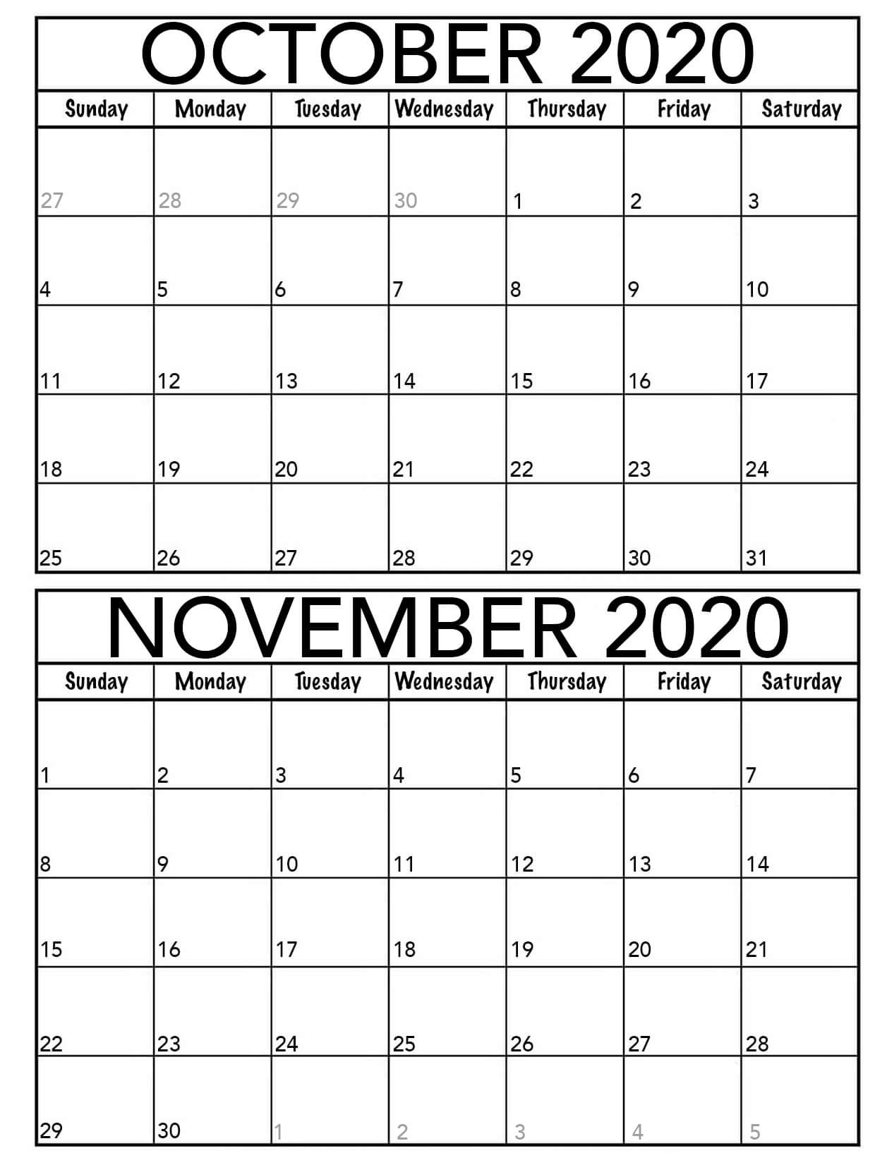 October 2020 To March 2021 Calendar Online | Free Printable Calendar Shop October 2020 - September 2021 Calendar