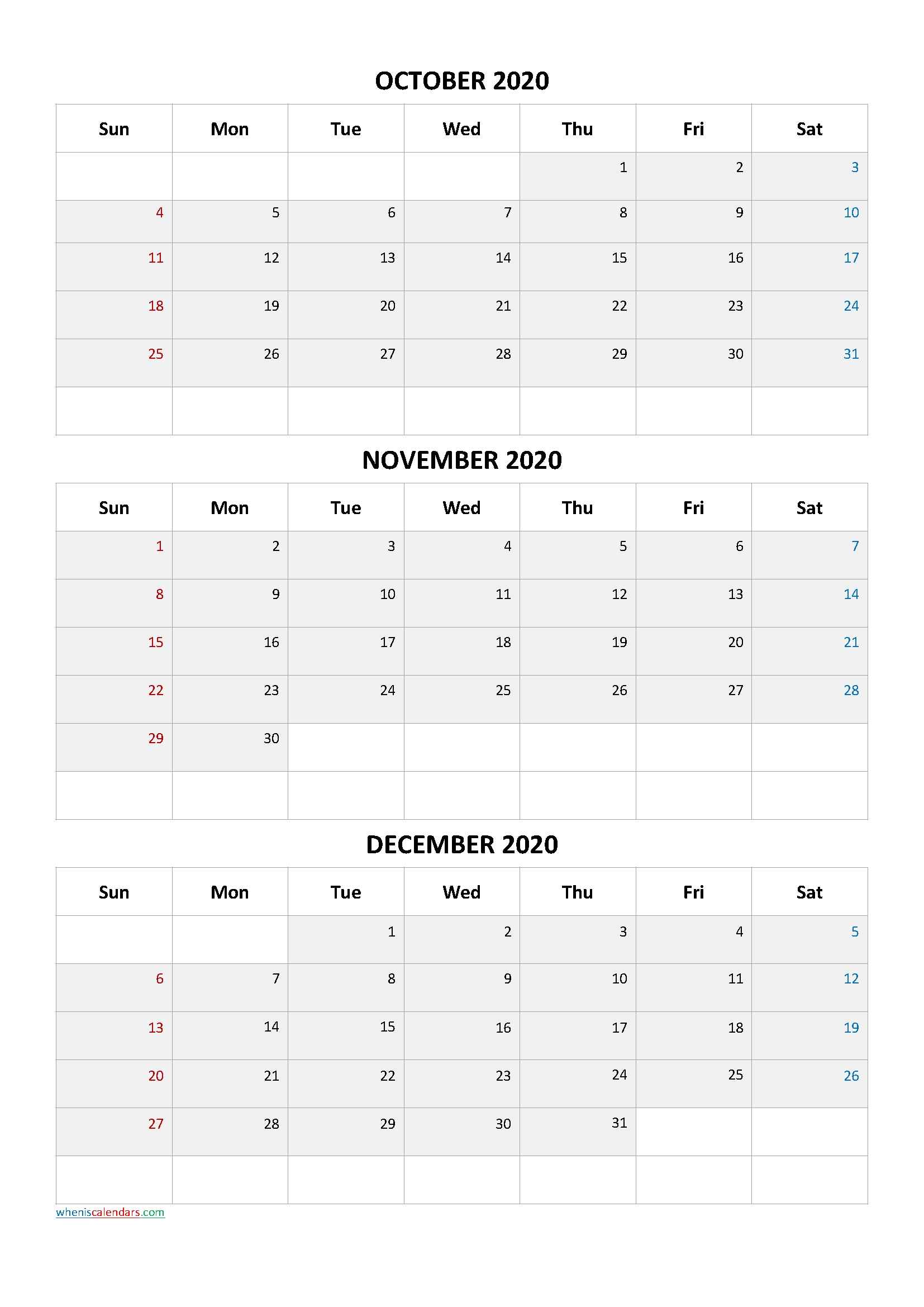 October November December 2020 Three Month Calendar-20Ca6 - Free Printable 2021 Monthly Calendar October November December 2021 Calendar