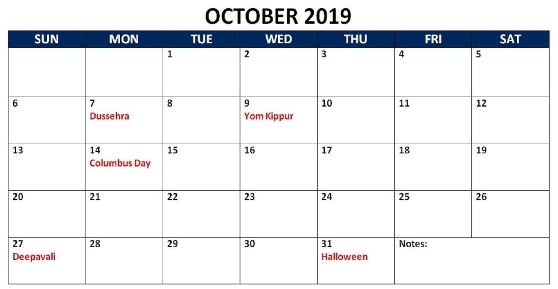 Pin On Monthly Calendar Printable Template October 2021 Calendar With Holidays Philippines