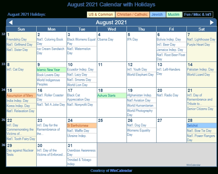 Print Friendly August 2021 Us Calendar For Printing Hebrew Calendar November 2021