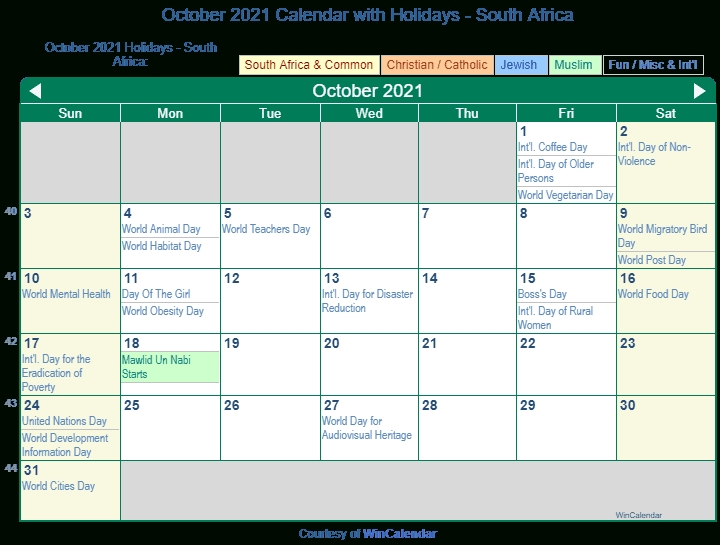 Print Friendly October 2021 South Africa Calendar For Printing August 2021 Calendar Nz