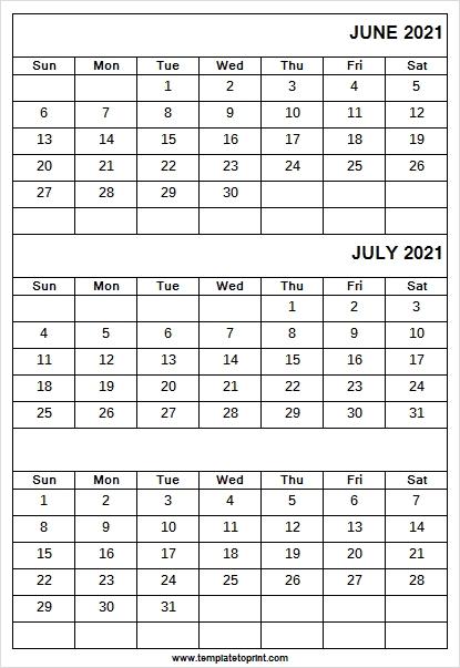 Print Online Calendar June To August 2021   Blank 2021 Calendar Printable Calendar June July August 2021