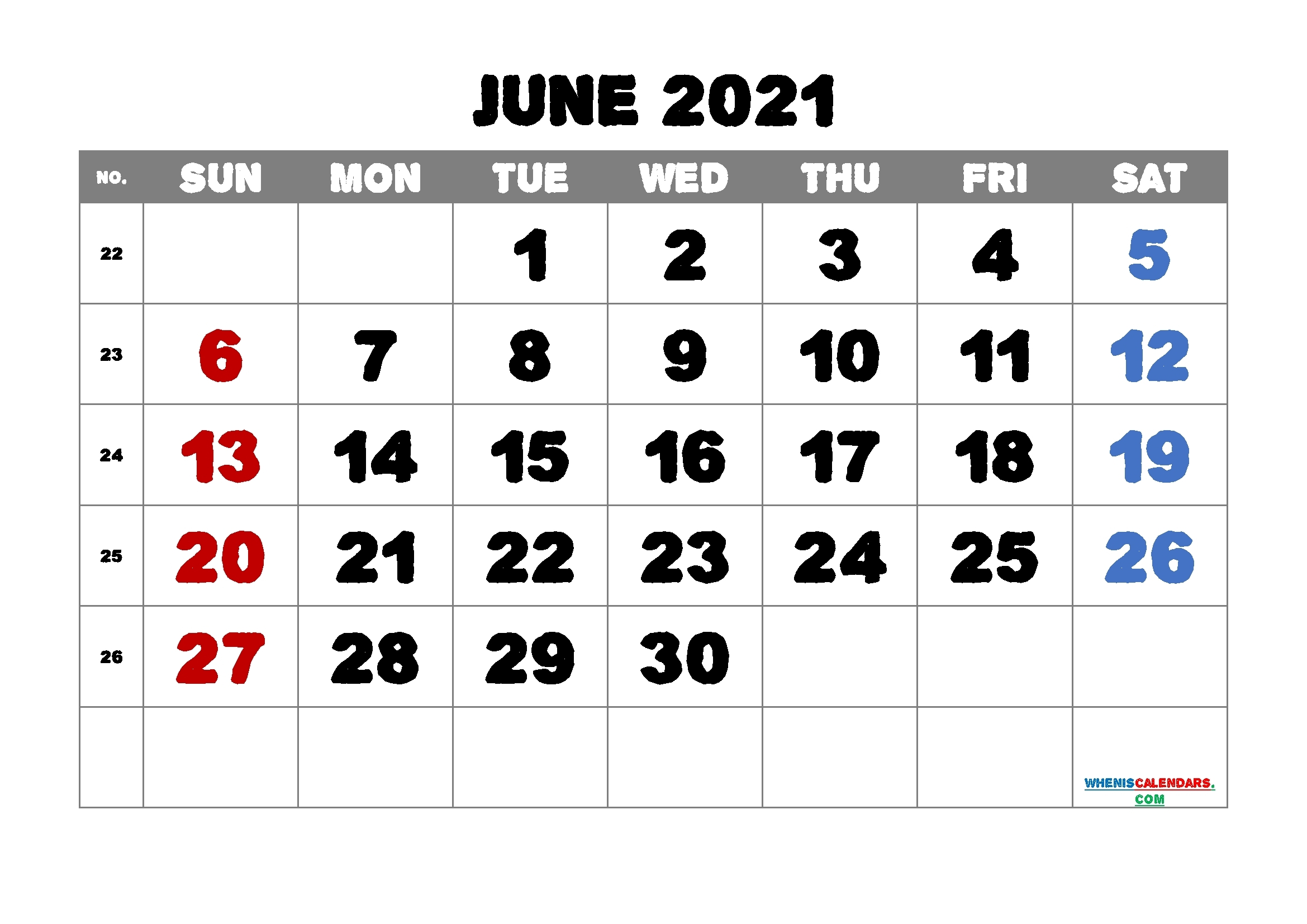 Printable Calendars For 2021 20211 2022 2023 2024   Month Calendar Printable What Will Happen In June 2021