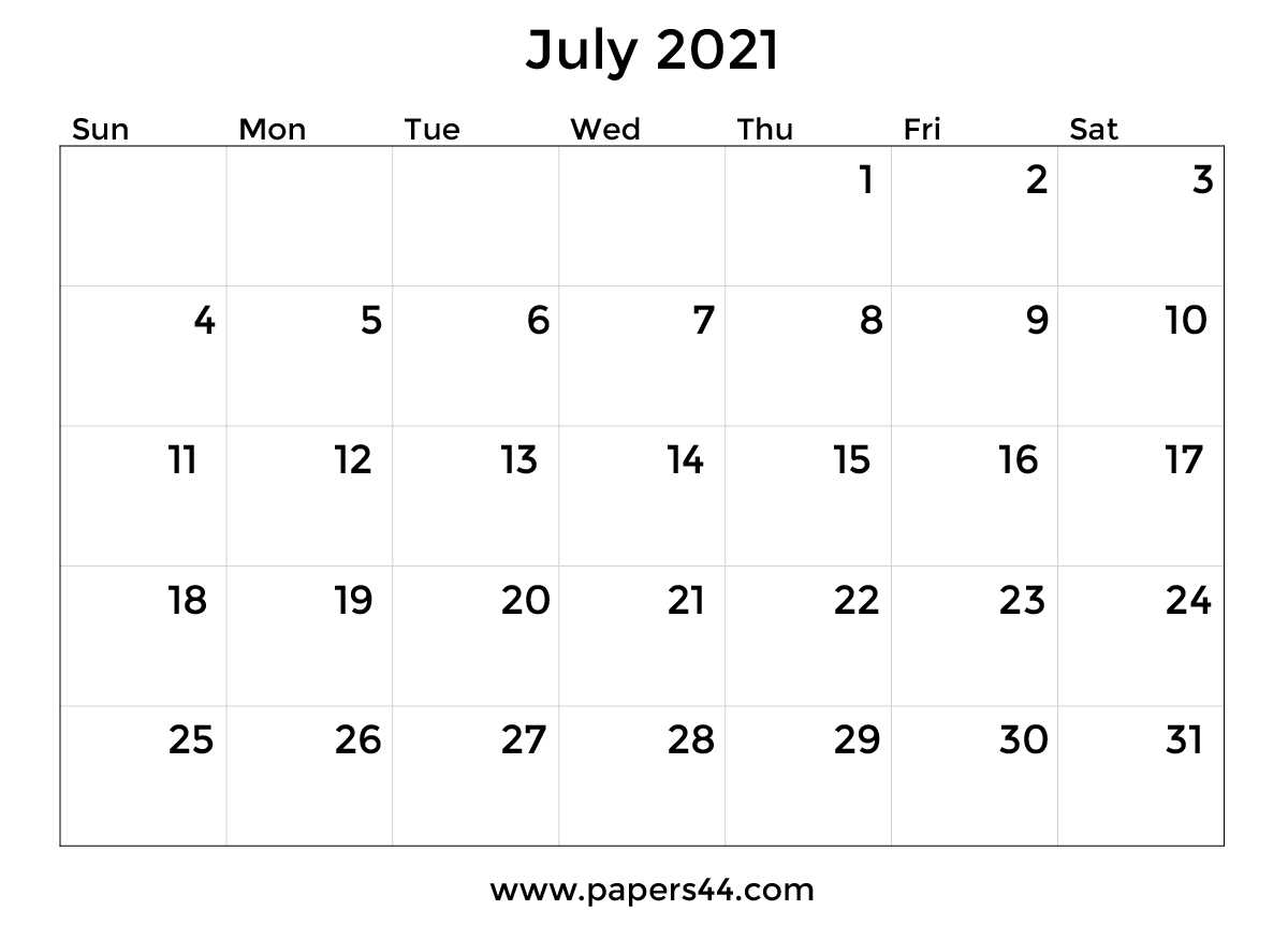 Printable July 2021 Calendar Templates Calendar For The Month Of July 2021