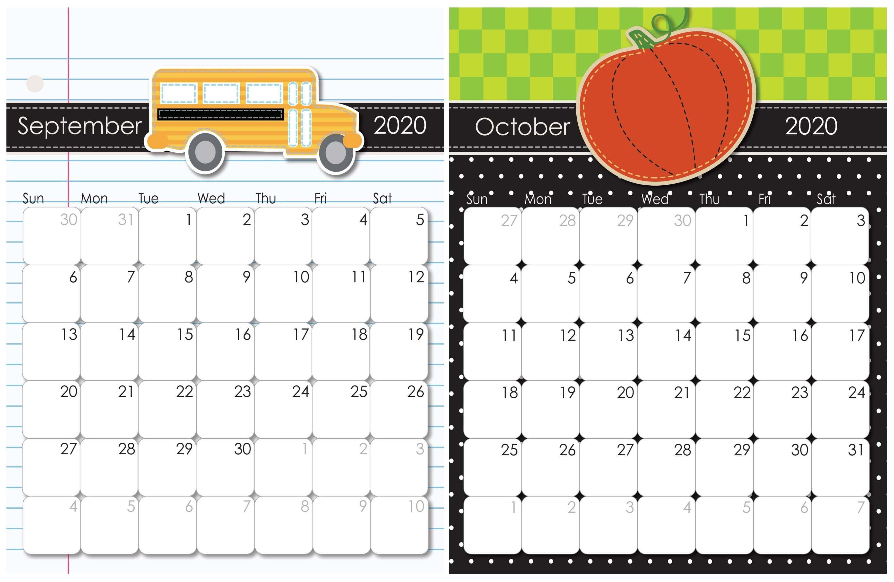 September 2020 To February 2021 Calendar With Notes | Free Printable Calendar Shop October 2020 - September 2021 Calendar