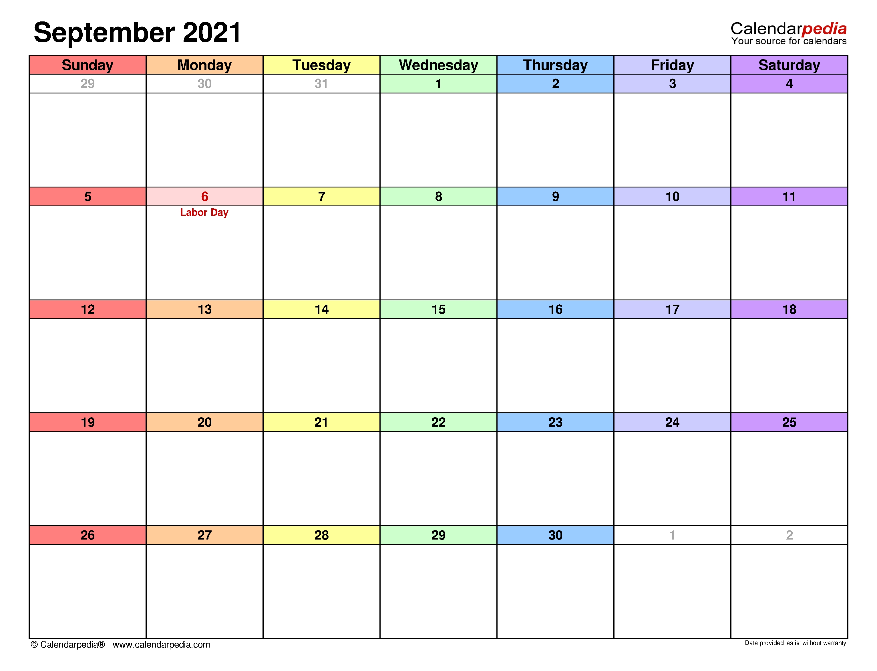September 2021 Calendar | Templates For Word, Excel And Pdf Calendar May To September 2021