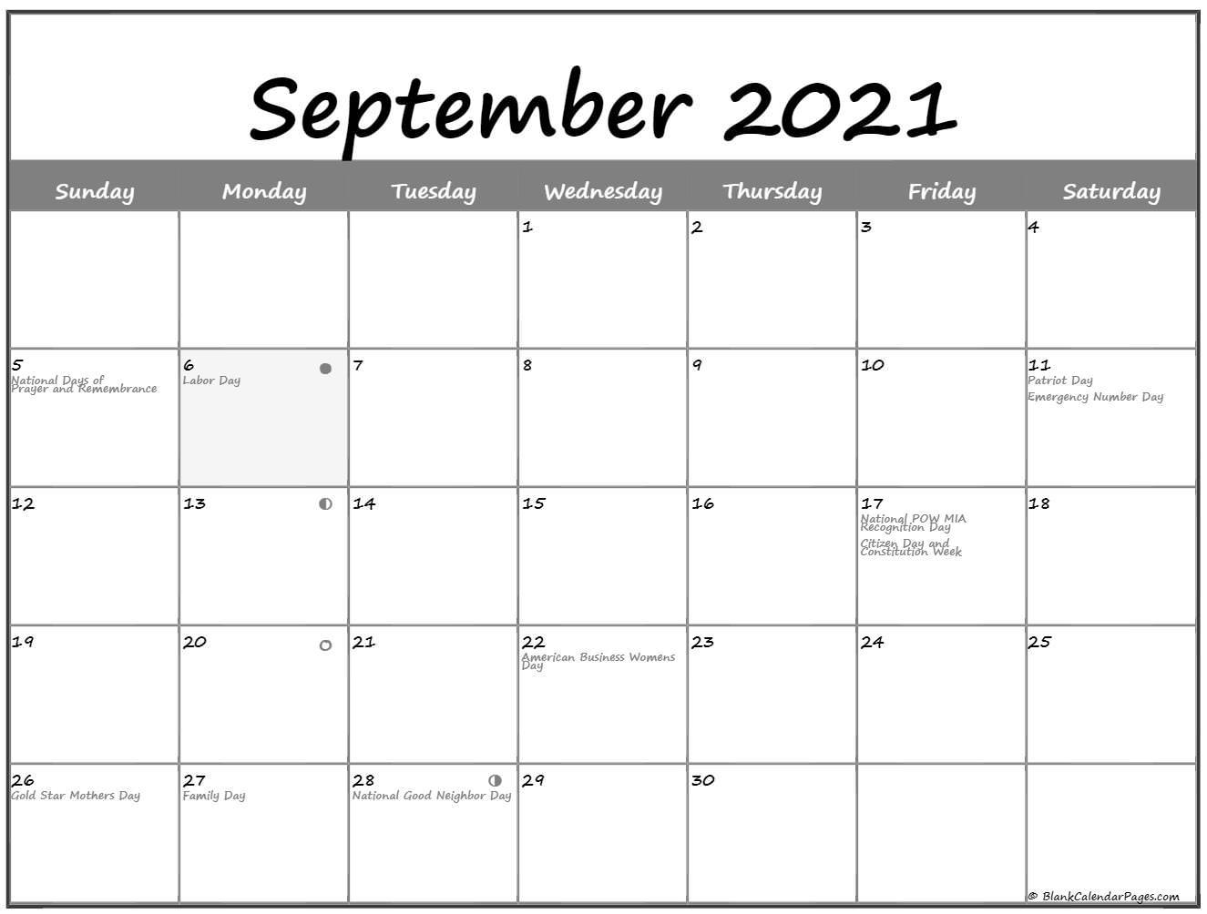 September 2021 Lunar Calendar   Moon Phase Calendar September 2020 To March 2021 Calendar