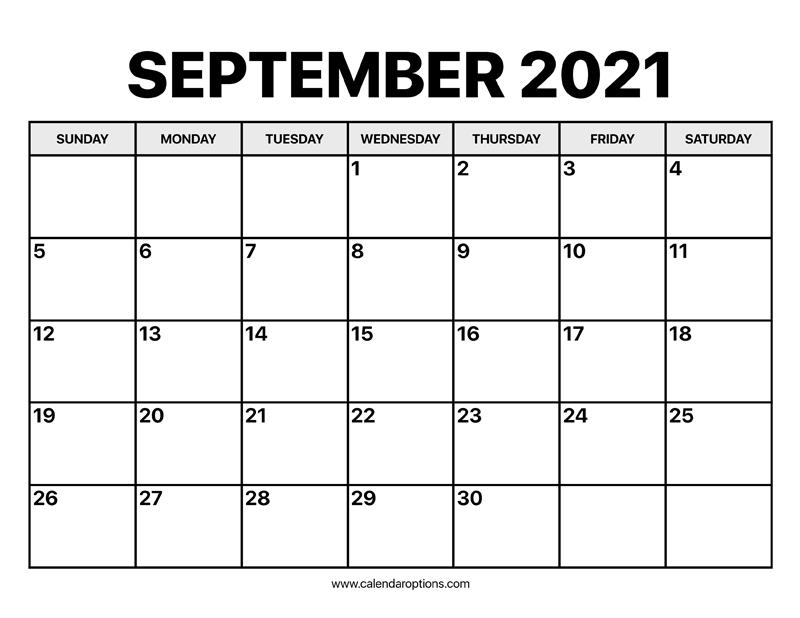 September Calendar 2021 - Calendar Options Calendar May To September 2021