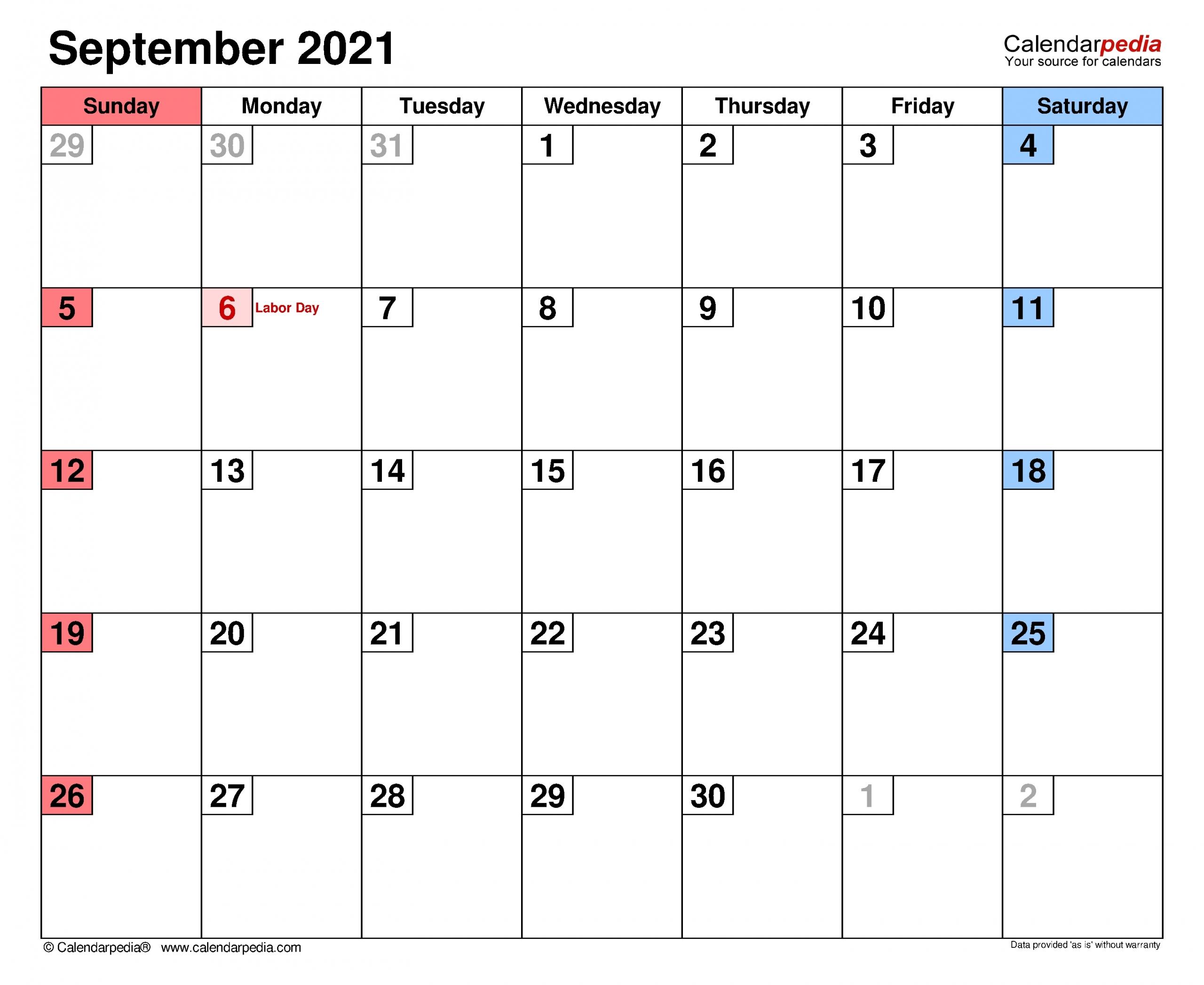 September Calendar 2021 With Holiday | Best Calendar Example September 2020 To September 2021 Calendar