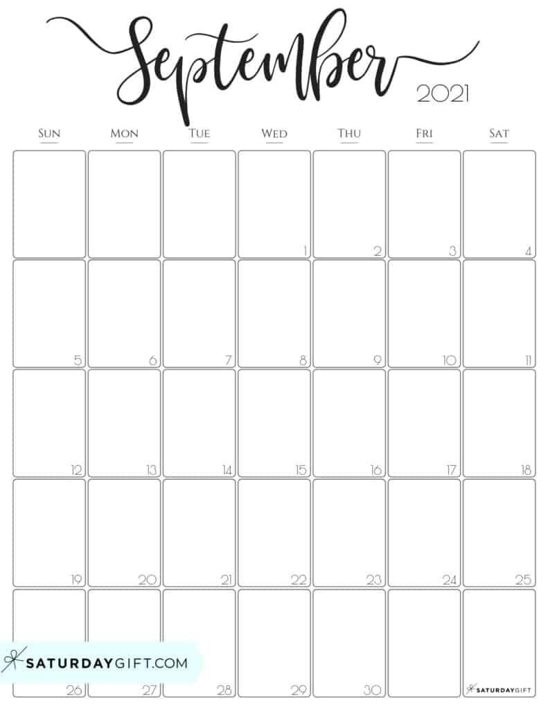 Simple & Elegant Vertical 2021 Monthly Calendar - Pretty Printables July 2021 Vertical Calendar