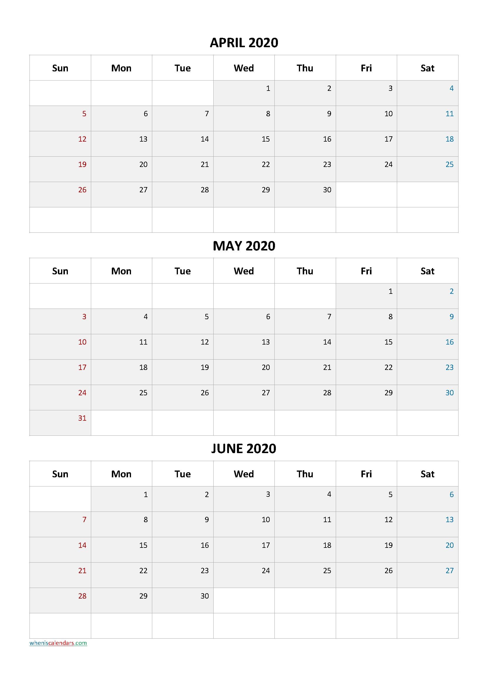 Three Month Calendar View April May June 2021   Calendar 2021 Print April May June 2021 Calendar