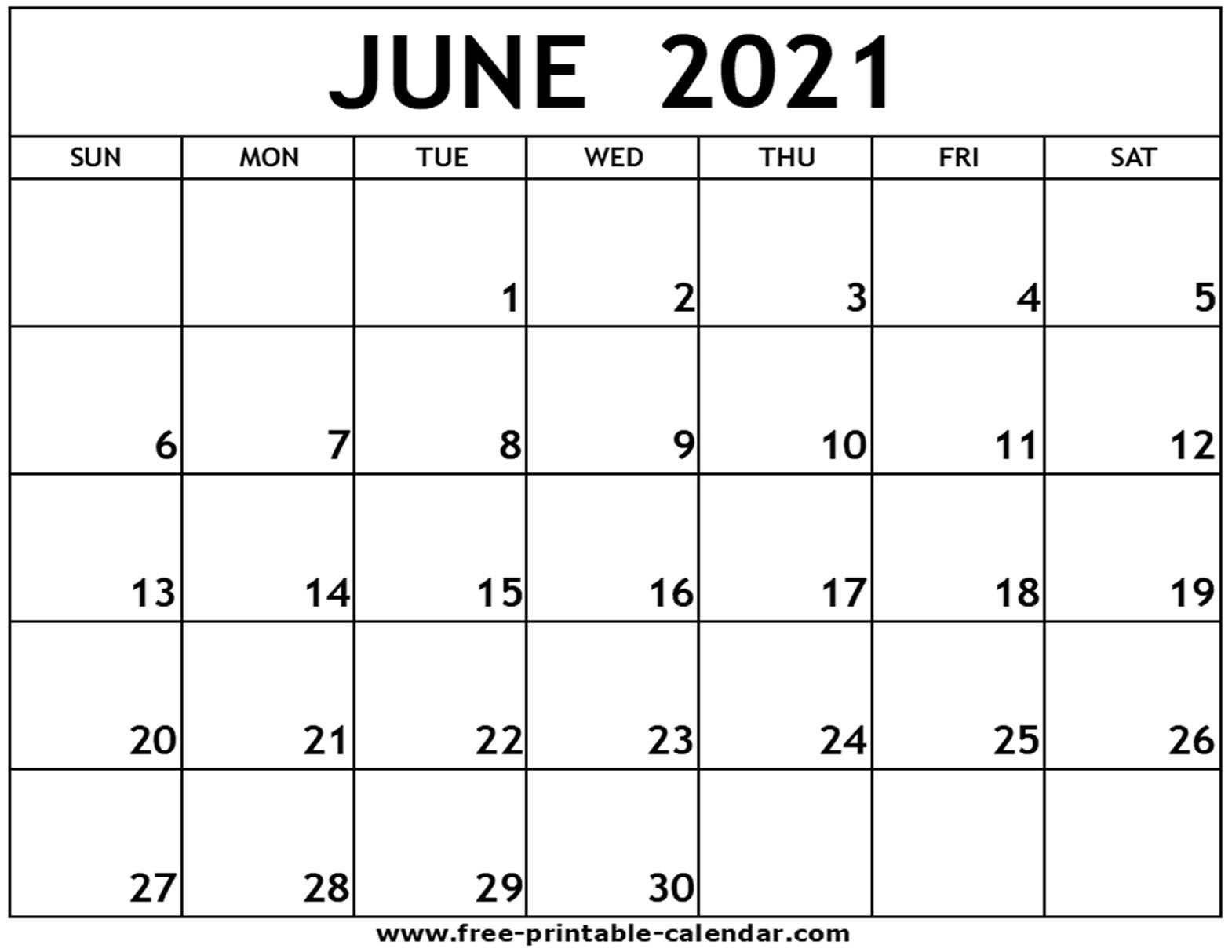 Universal Free Calendars 2021 Printable That You Can Edit | Get Your Calendar Printable June 2021 Calendar Kuda