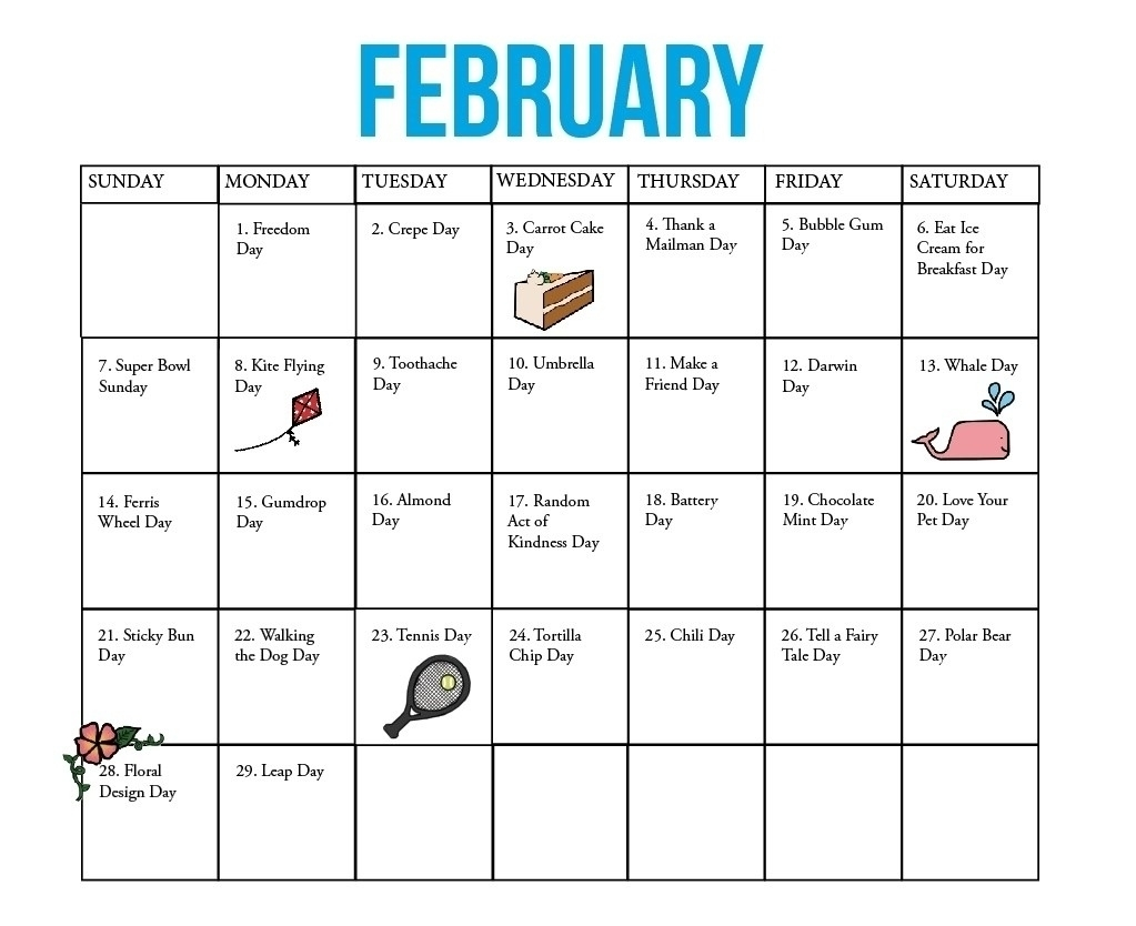 Year Calendar Of National Days | Ten Free Printable Calendar 2020-2021 National Calendar October 2021