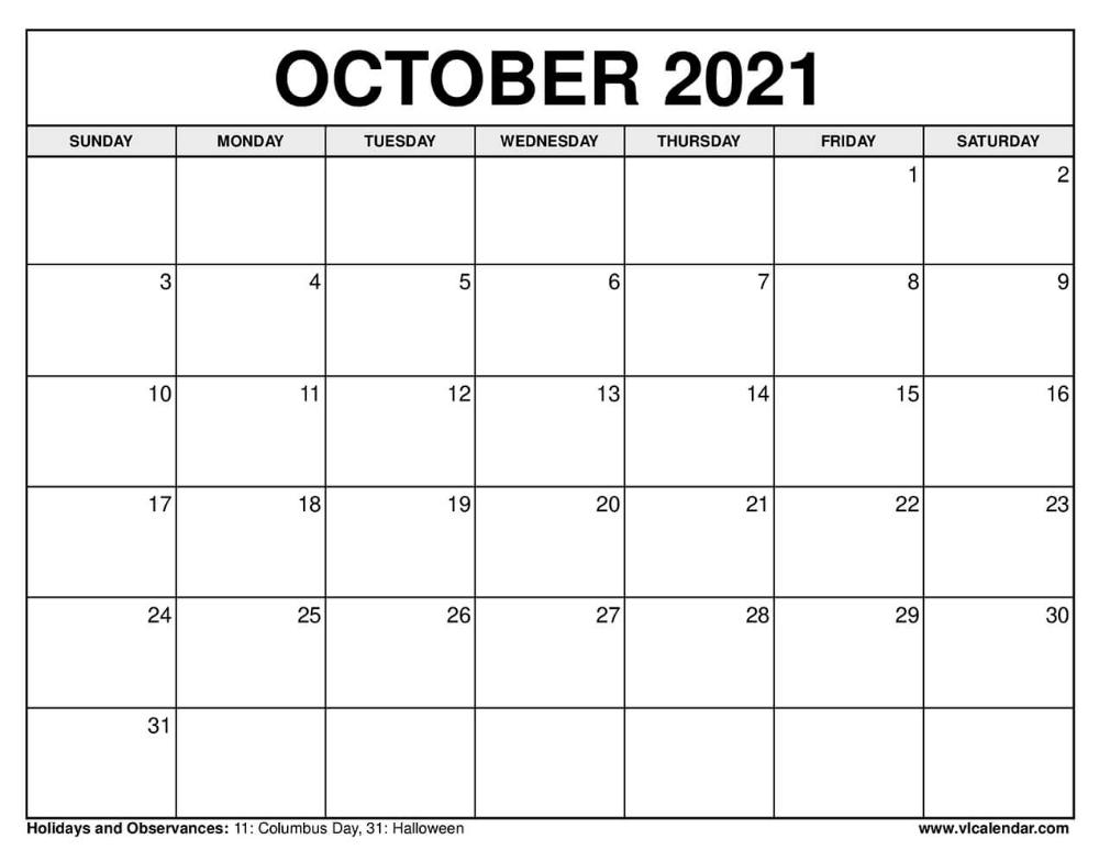 20+ Calendar October 2021 - Free Download Printable Calendar Templates ️ Printable Calendar October 2020 To September 2021