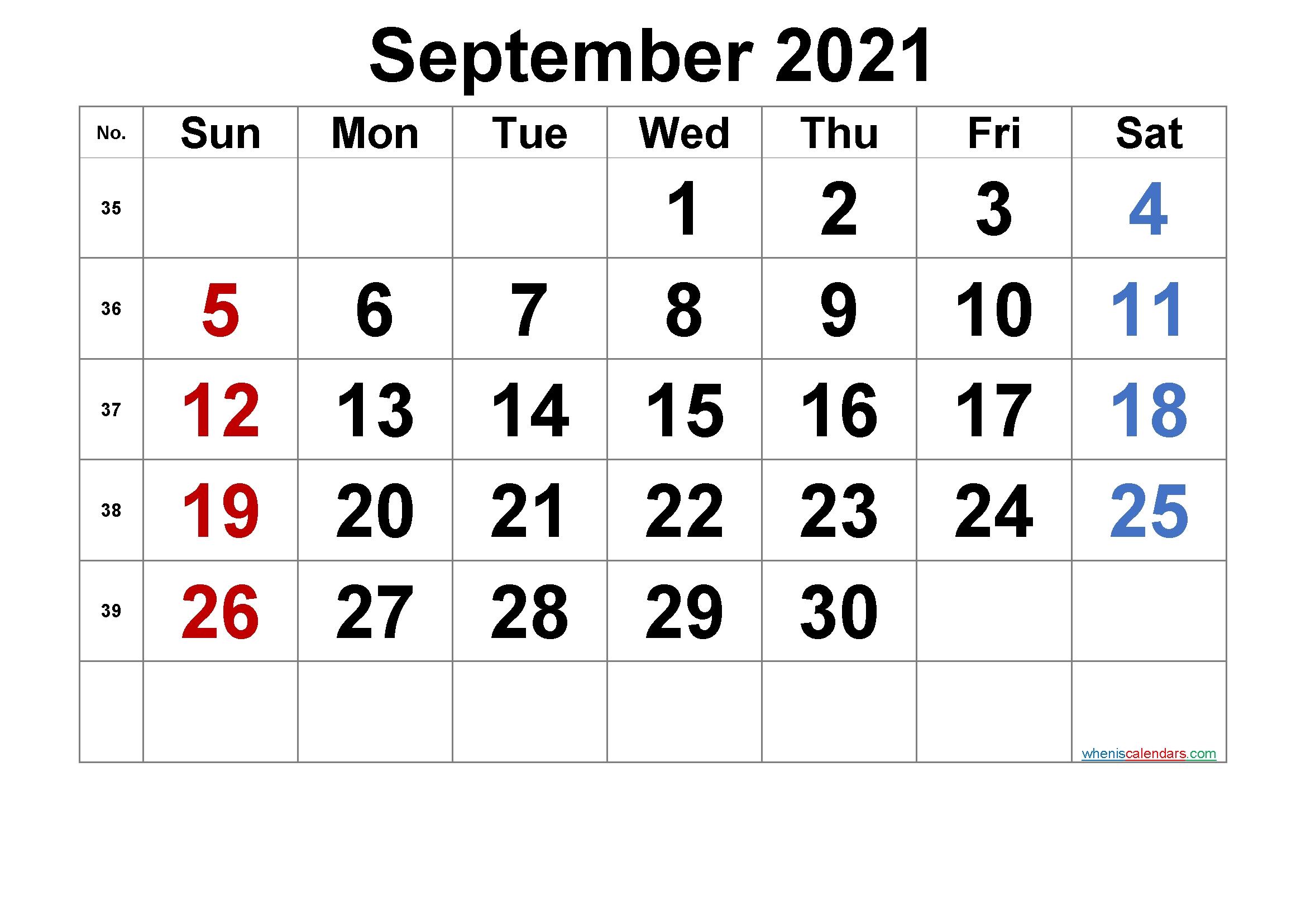 20+ September 2021 Calendar - Free Download Printable Canada September 2021 Calendar