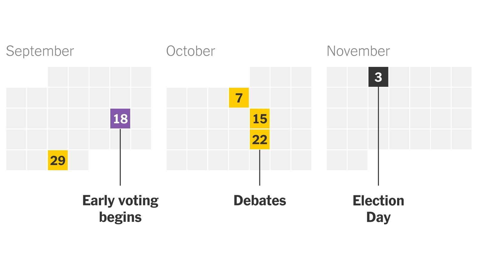 2020 Presidential Election Calendar - The New York Times November 2021 Election Calendar