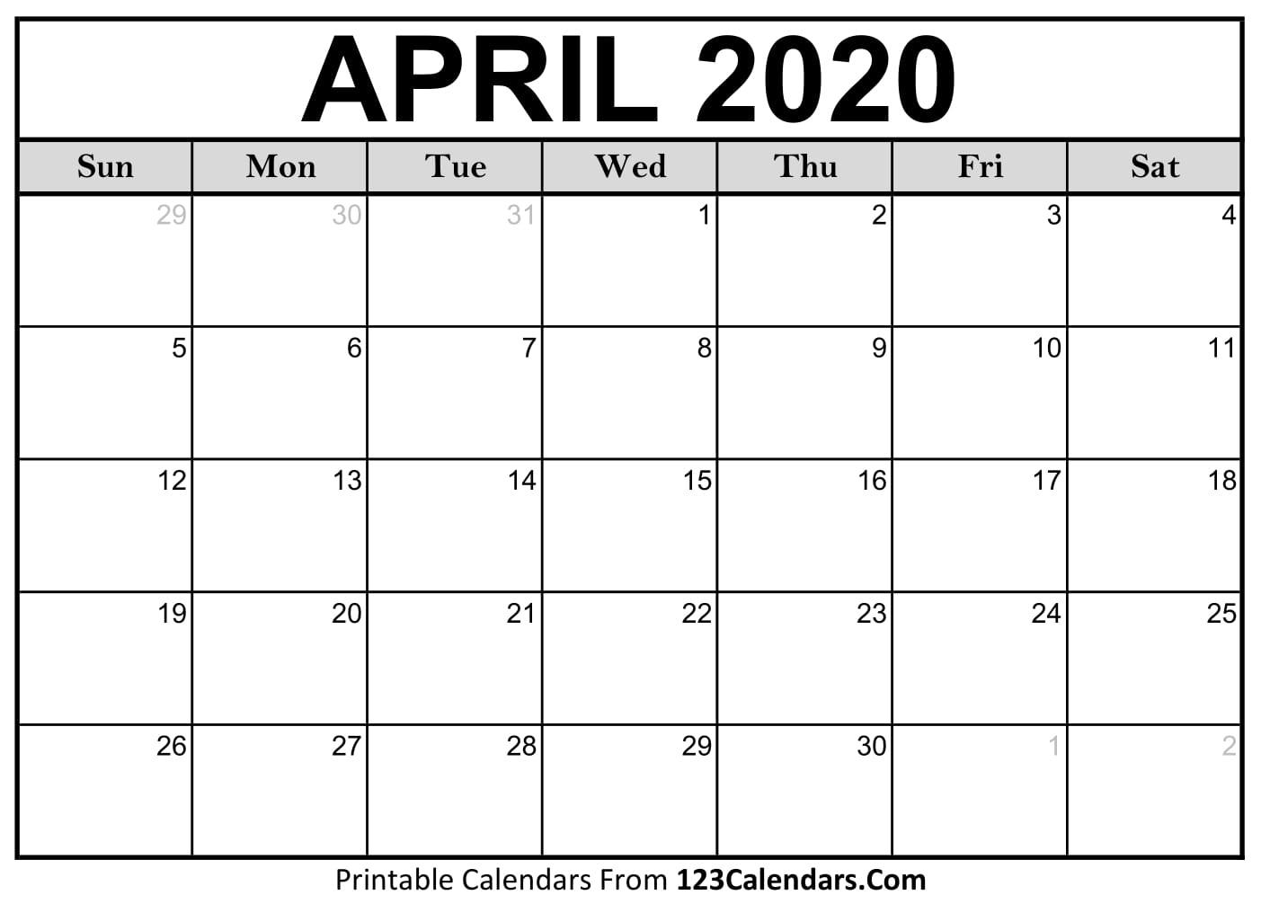 2020 Printable Calendar April | Printable Calendar Free Waterproof Calendar August 2021
