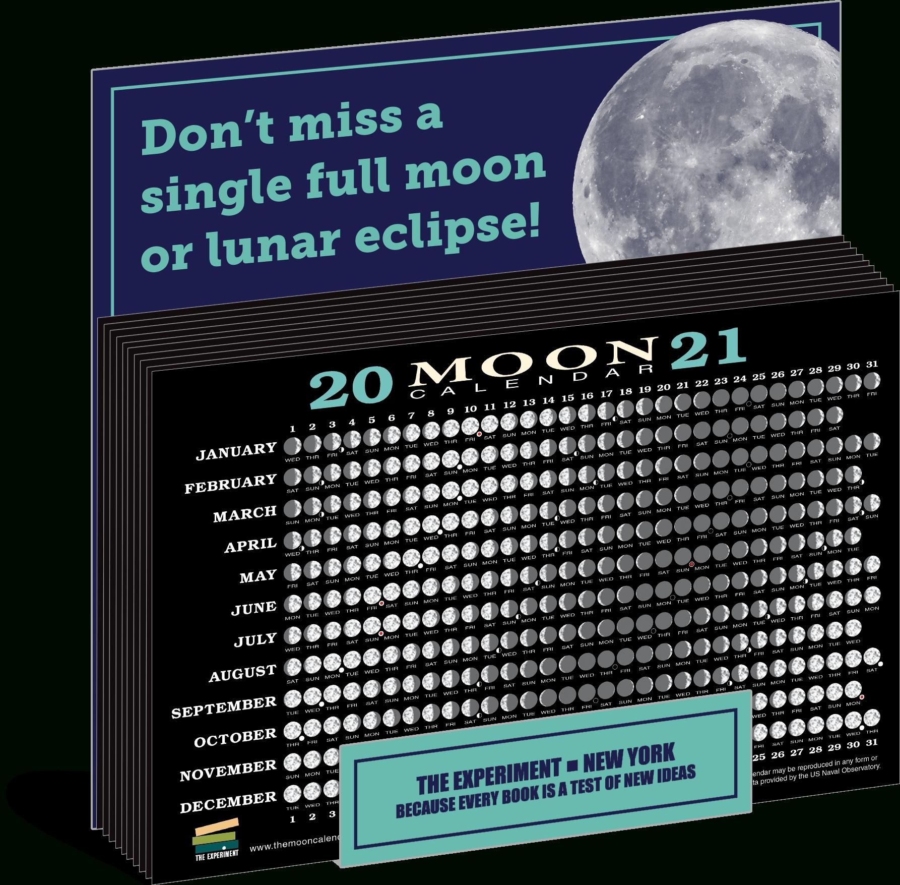 2021 Moon Calendar Card (40 Pack)   The Experiment Lunar Calendar September 2021