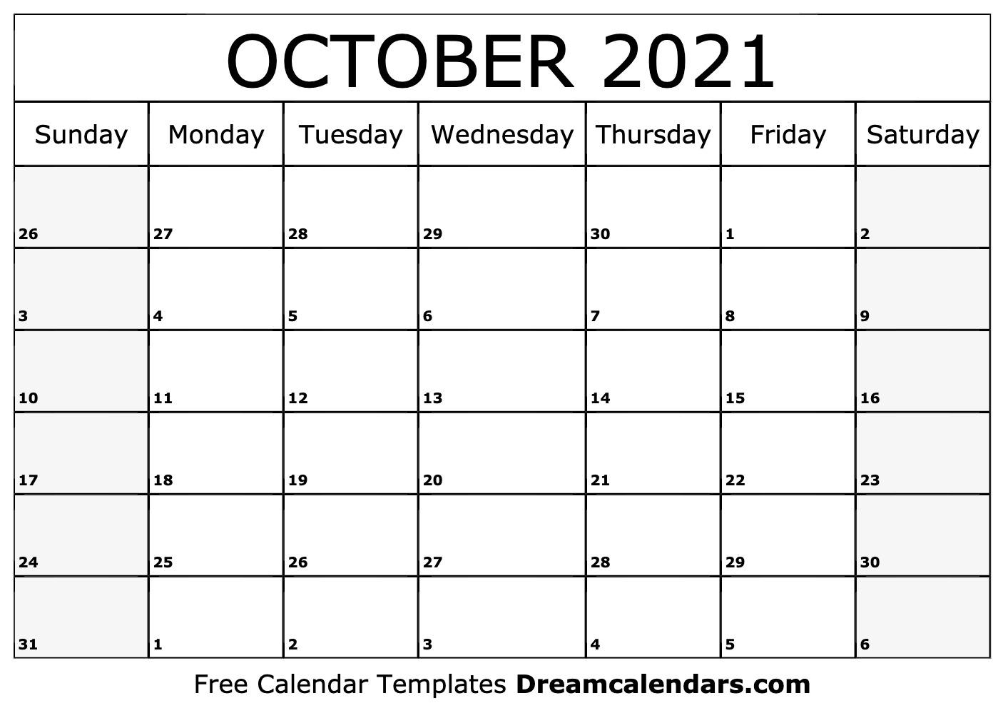 2021 Printable Calendar From October Thru December   Calendar Printables Free Blank Printable Calendar October 2020 To September 2021