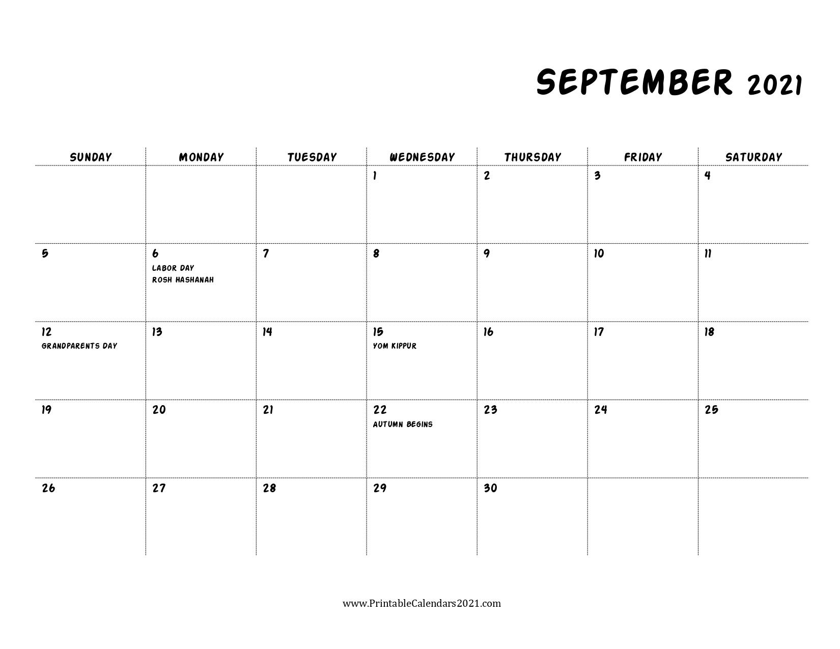 40+ September 2021 Calendar Printable, September 2021 Calendar Pdf September 2021 Calendar Pdf