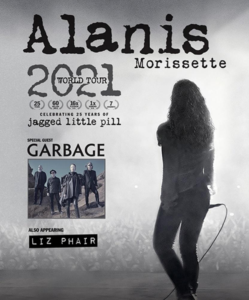 Alanis Morissette - 2021 World Tour - 17 September 2021 - Bridgestone Arena - Event/Gig Details September 2021 Events
