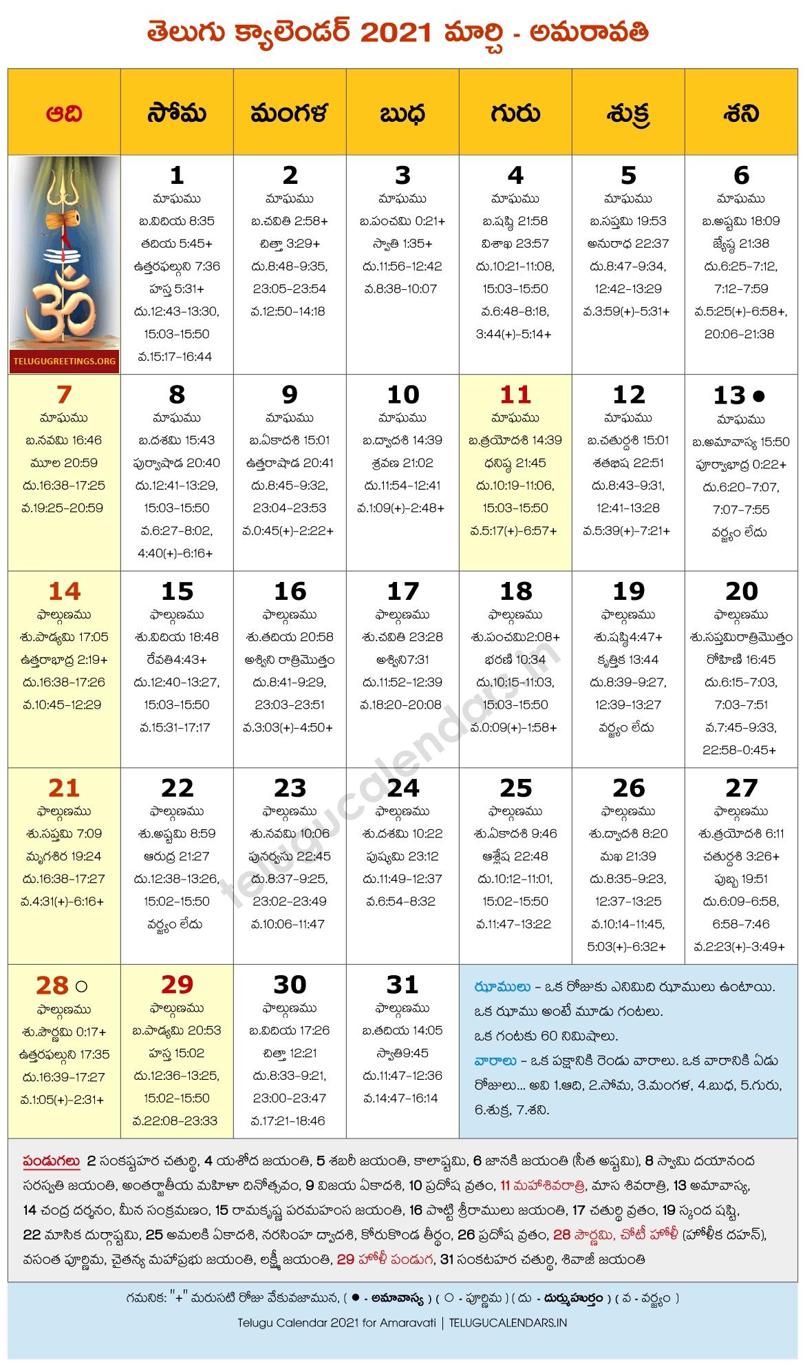 Amaravati 2021 March Telugu Calendar | Telugu Calendars Telugu Calendar 2021 October Andhra Pradesh